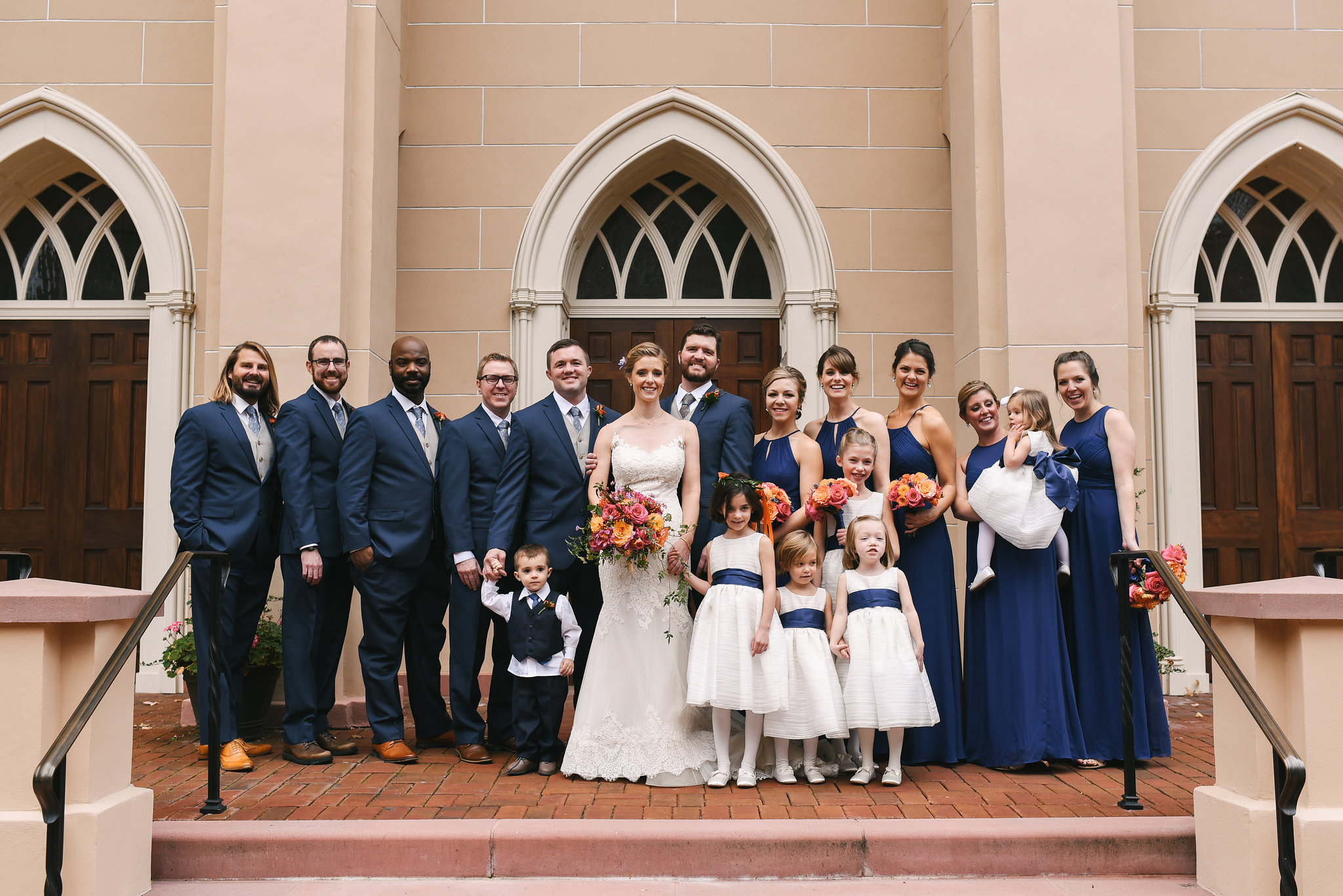 Alexandria, Fall Wedding, Historic, Old Town, DC, Jos A. Bank Suit, The Enchanted Florist, Wedding Party, Bridal Party, Lian Carlo Wedding Dress, Flower Girls