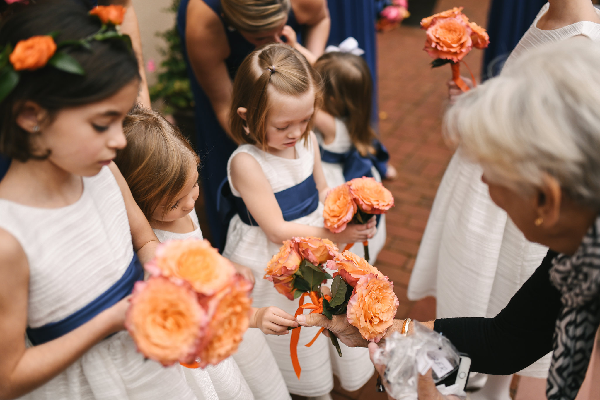 Alexandria, Fall Wedding, Historic, The Enchanted Florist, Wedding Party, Bridal Party, Flower Girls