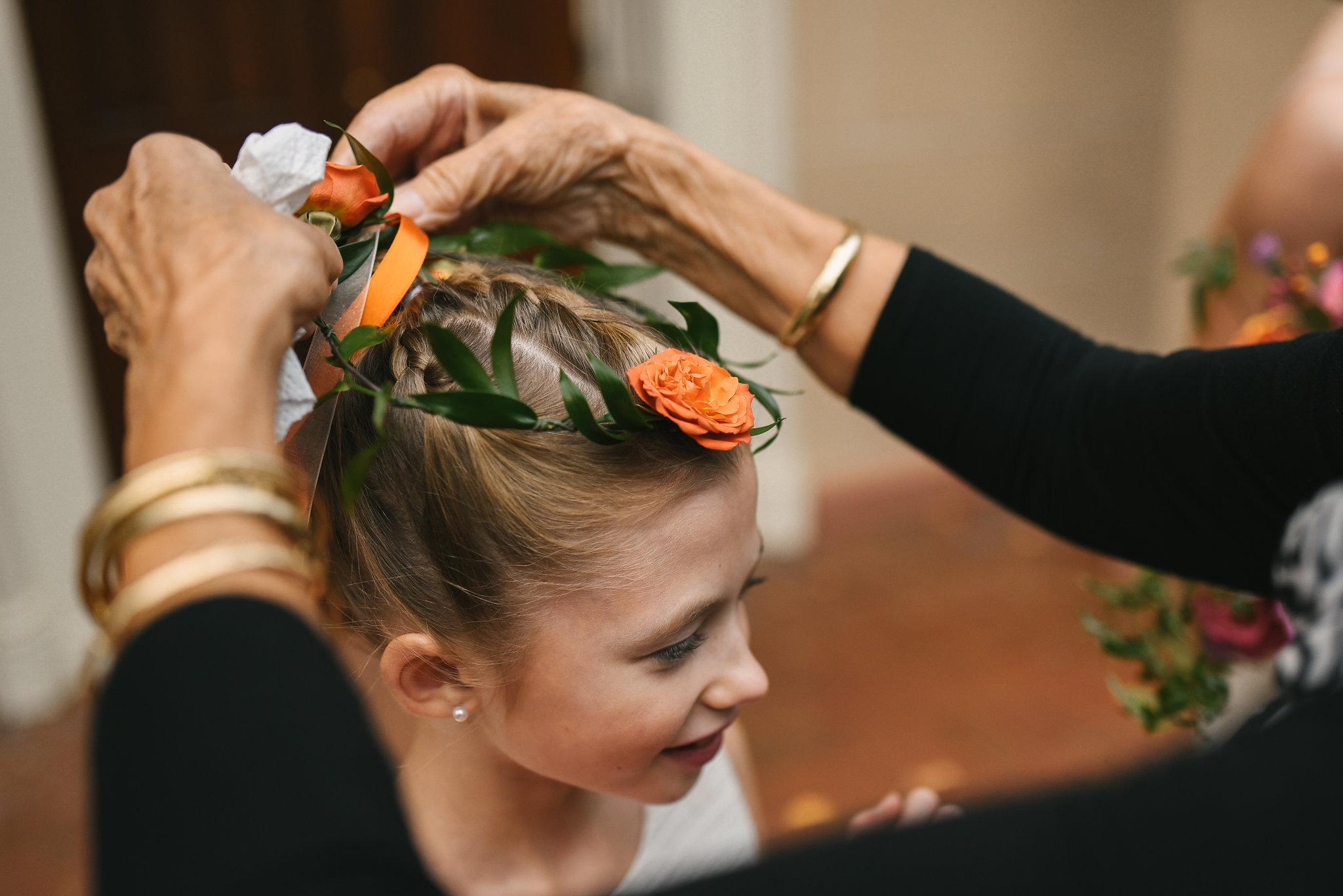 Alexandria, Fall Wedding, Historic, The Enchanted Florist, Wedding Party, Flower Girls, Flower Crown, Getting Ready