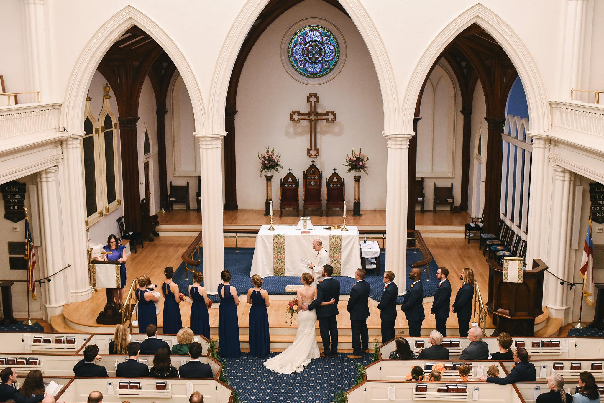Alexandria, DC, Jos A. Bank Suit, The Enchanted Florist, Wedding Party, Bridal Party, Lian Carlo Wedding Dress, Blue Bridesmaid Dress, St. Paul's Episcopal Church, Church Wedding, Ceremony, Classic