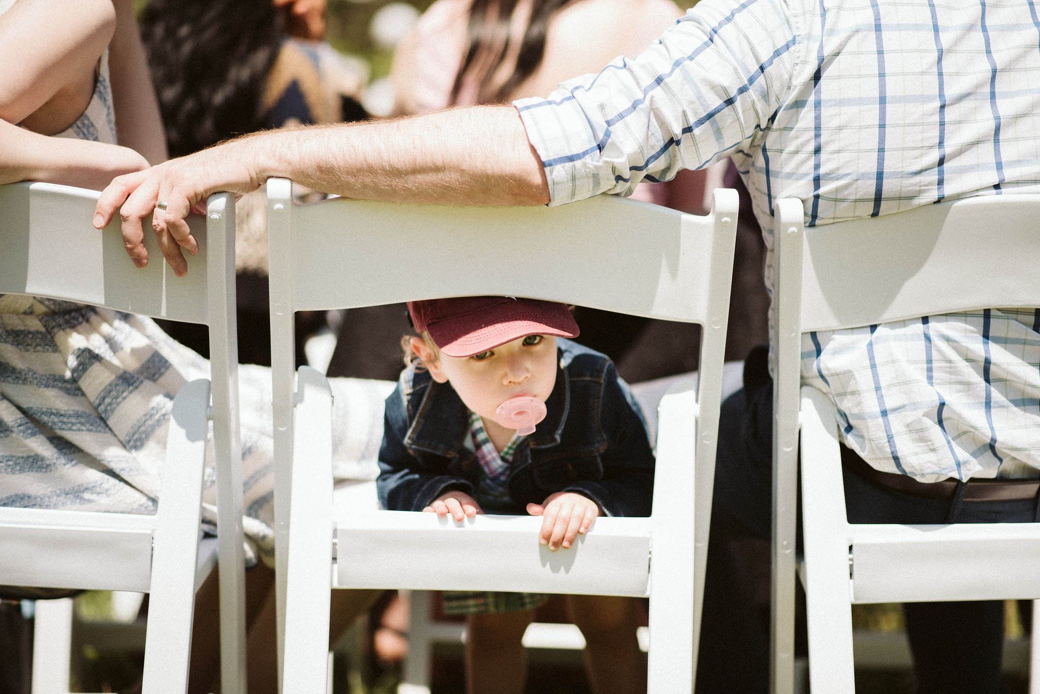 Spring Outdoor Wedding, Park, Baltimore Wedding Photographer, DIY, Classic, Upcycled, Garden Party, Romantic, Little Boy at Ceremony