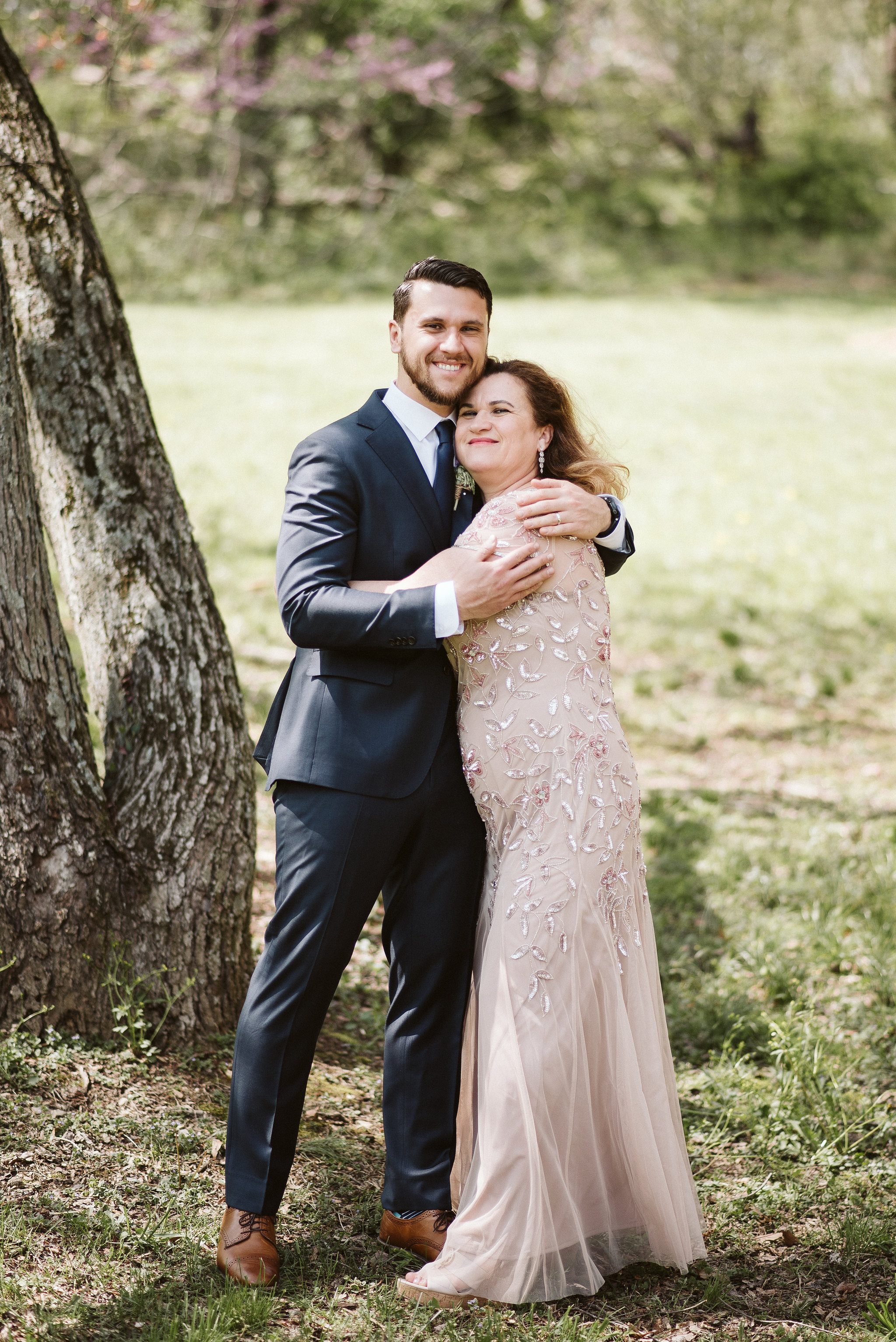 Spring Outdoor Wedding, Park, Baltimore Wedding Photographer, DIY, Classic, Upcycled, Garden Party, Romantic, Groom with Mother of the Groom, Family Portrait, Suit Supply