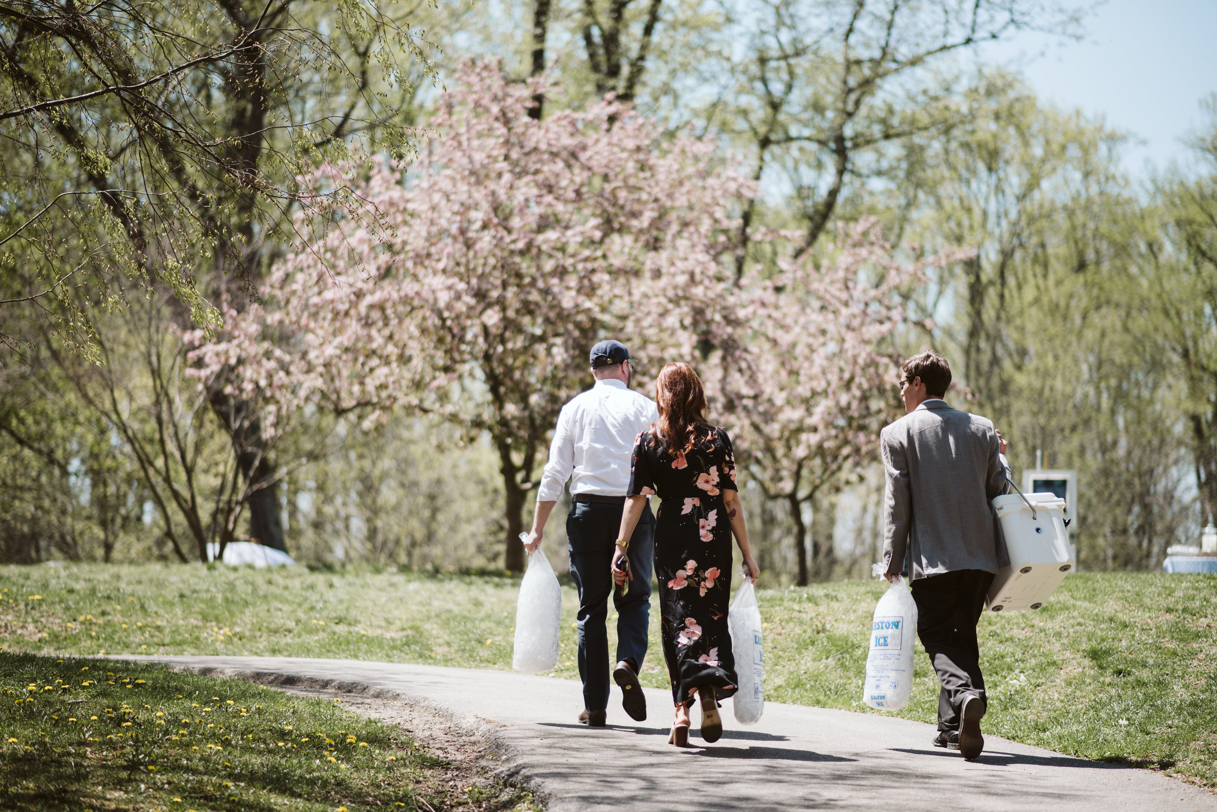 Spring Outdoor Wedding, Park, Baltimore Wedding Photographer, DIY, Classic, Upcycled, Garden Party, Romantic, Wedding Guests Helping with Reception