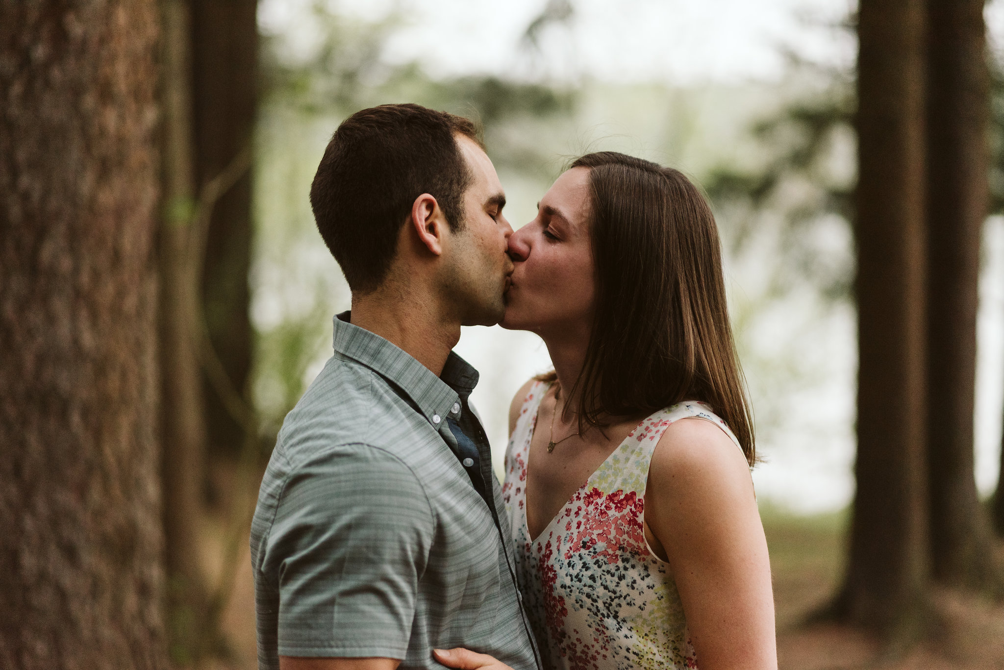 kissing couple crying and romantic