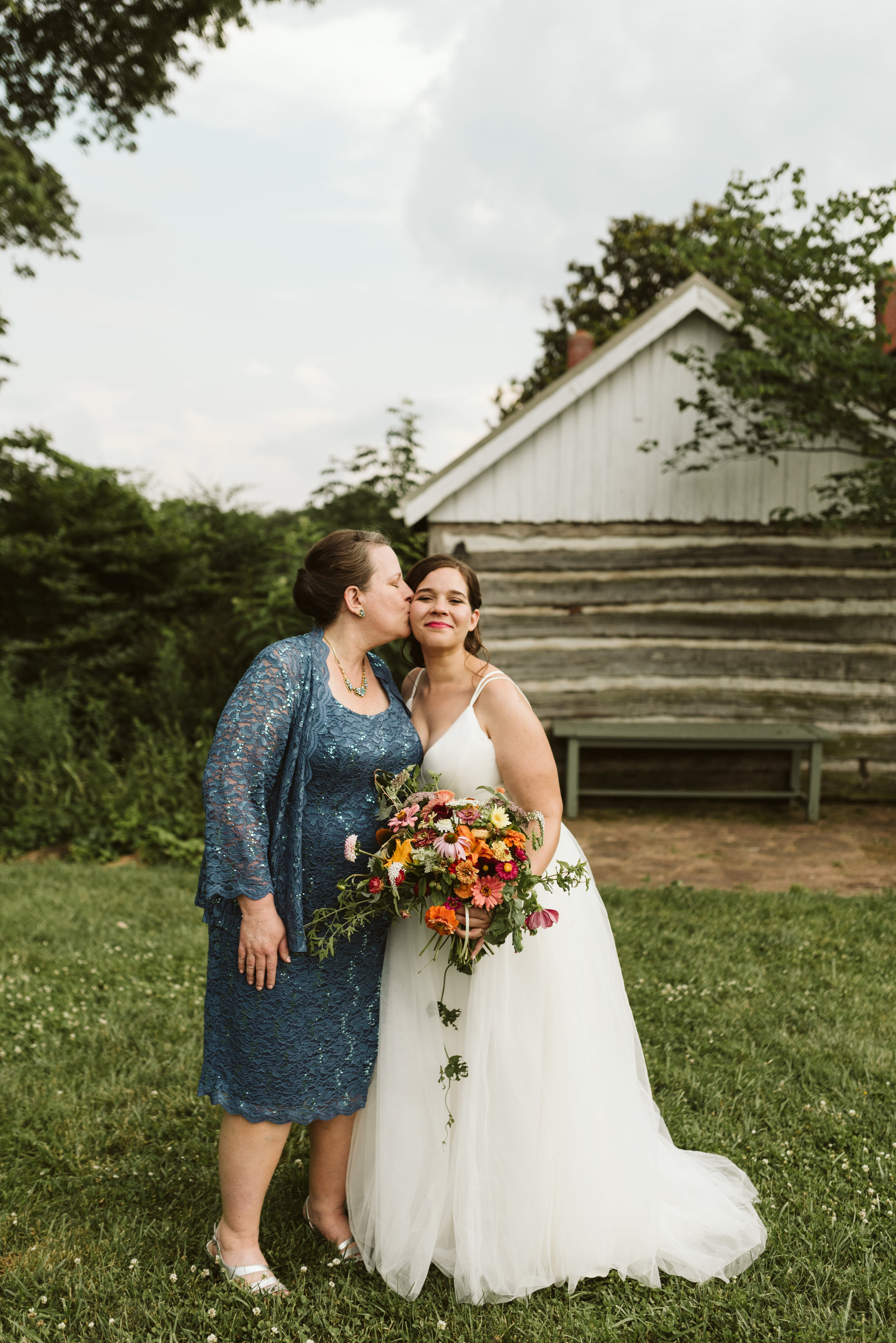 Rocklands Farm, Maryland, Intimate Wedding, Baltimore Wedding Photographer, Sungold Flower Co, Rustic, Romantic, Barn Wedding, Bride and Mother of the Bride, Family Portrait