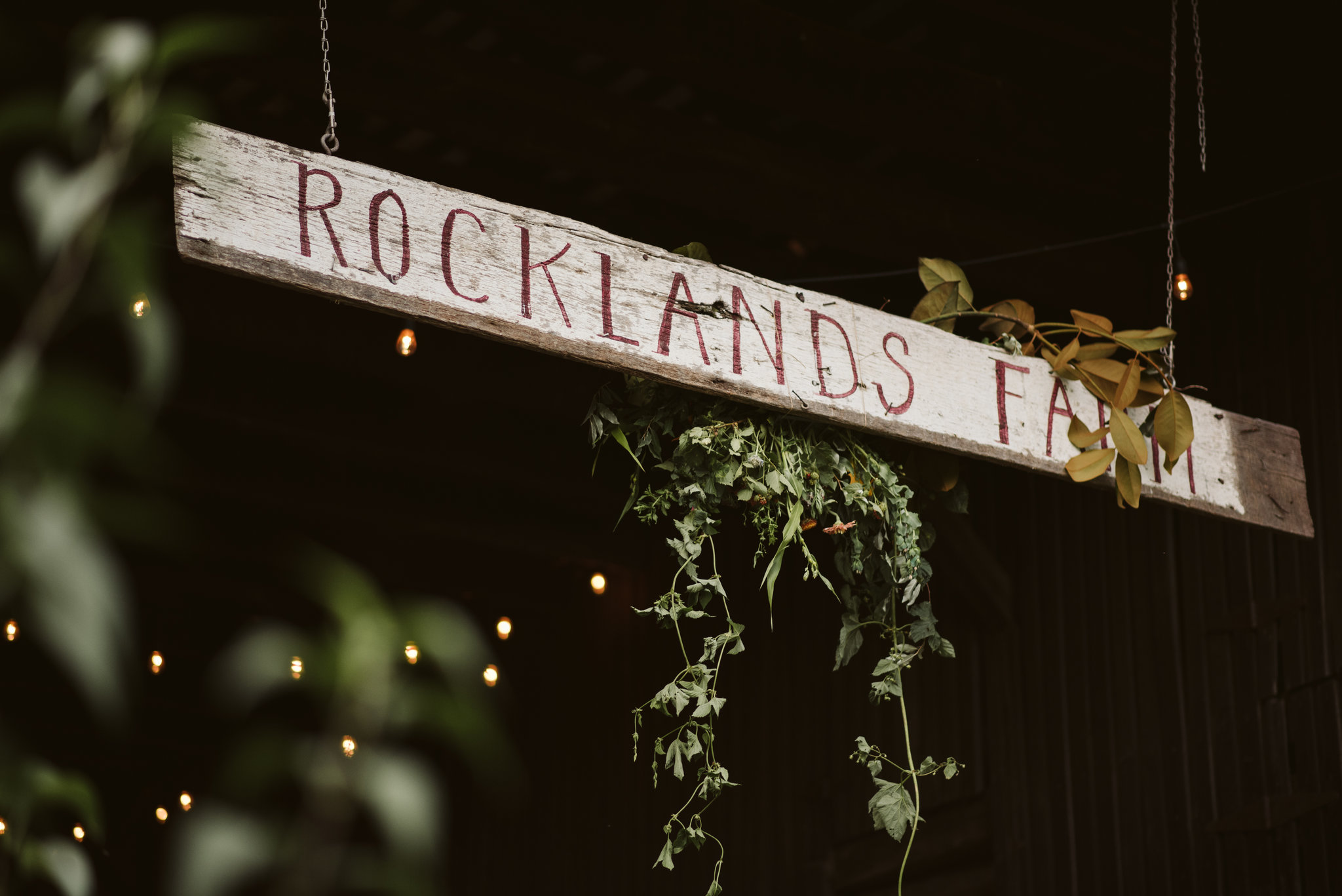 Rocklands Farm, Maryland, Intimate Wedding, Baltimore Wedding Photographer, Sungold Flower Co, Rustic, Romantic, Barn Wedding, Hand Painted Sign Hanging