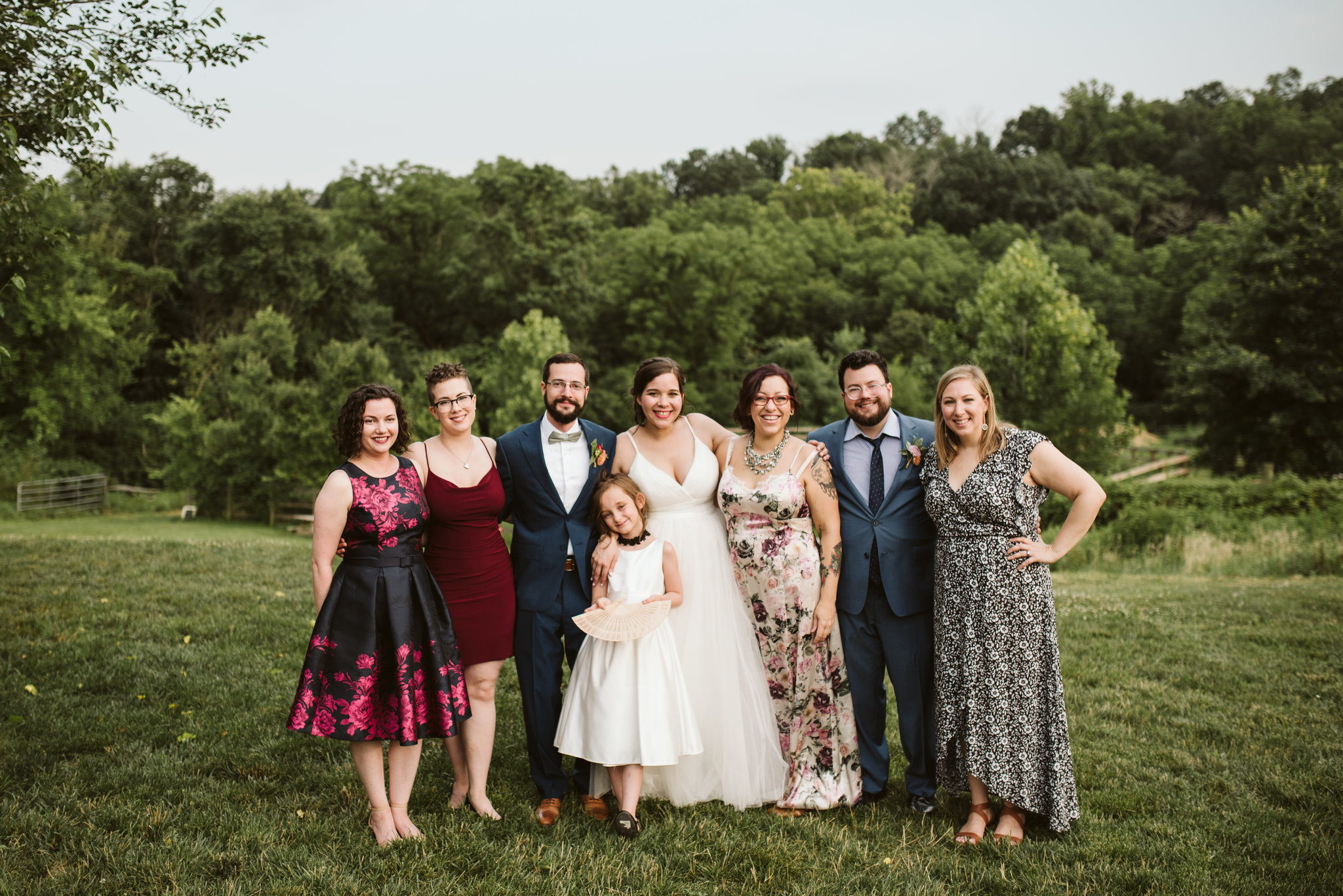 Rocklands Farm, Maryland, Intimate Wedding, Baltimore Wedding Photographer, Sungold Flower Co, Rustic, Romantic, Barn Wedding, Wedding Party After Ceremony