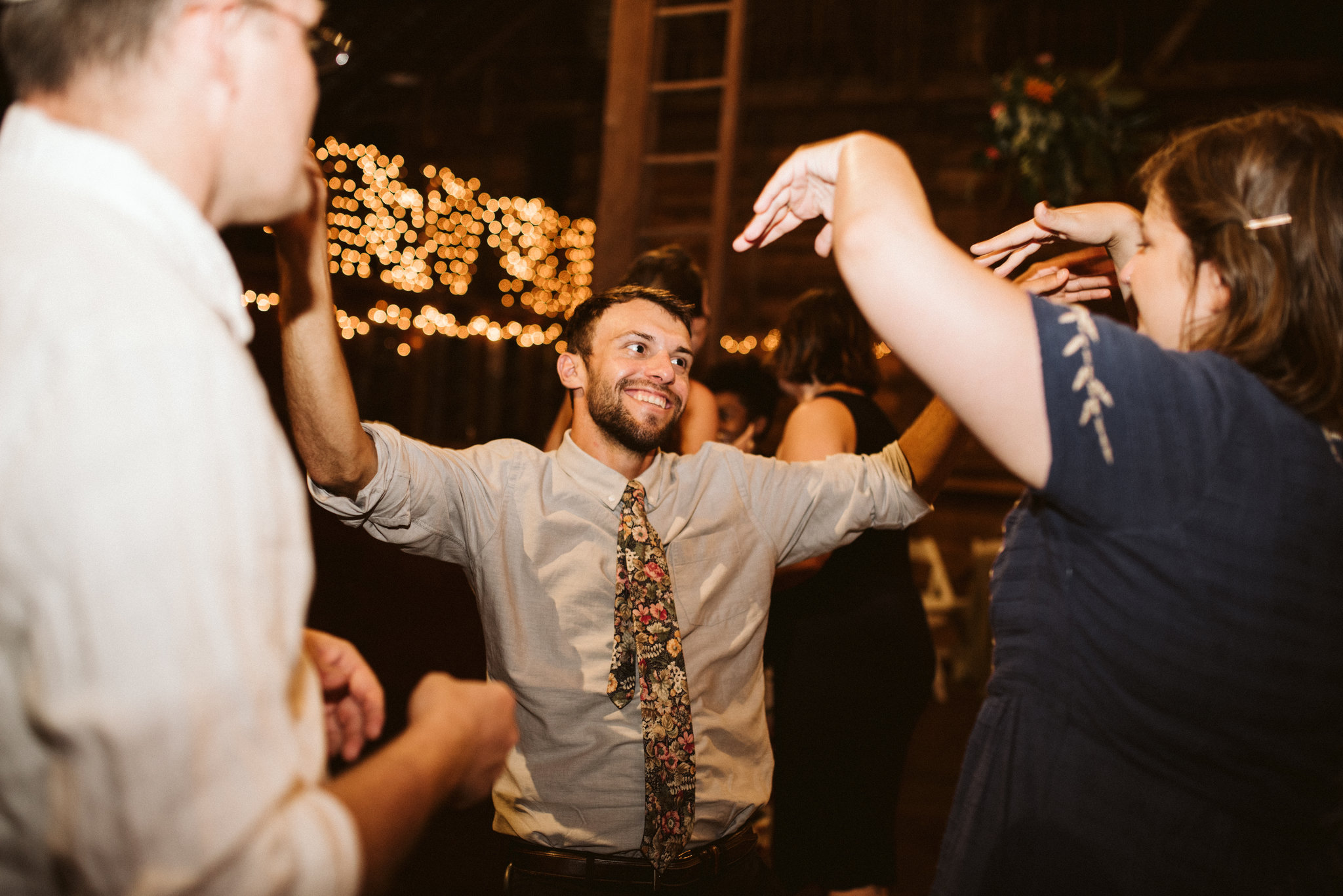 Rocklands Farm, Maryland, Intimate Wedding, Baltimore Wedding Photographer, Sungold Flower Co, Rustic, Romantic, Barn Wedding, Wedding Guests Dancing at Reception