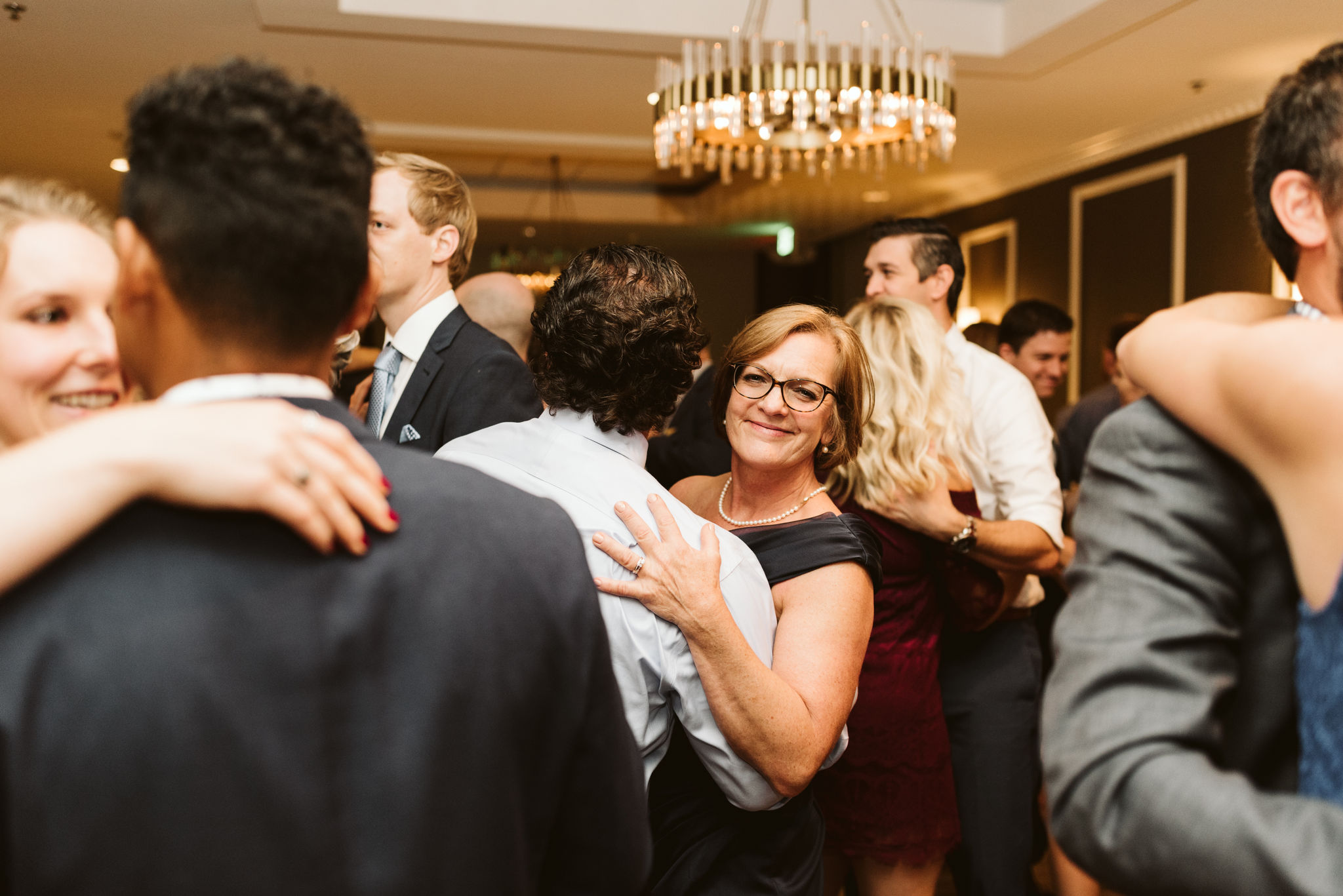 Phoenix Maryland, Baltimore Wedding Photographer, Eagle's Nest Country Club, Classic, Romantic, Wedding Guests Smiling and Dancing at Reception