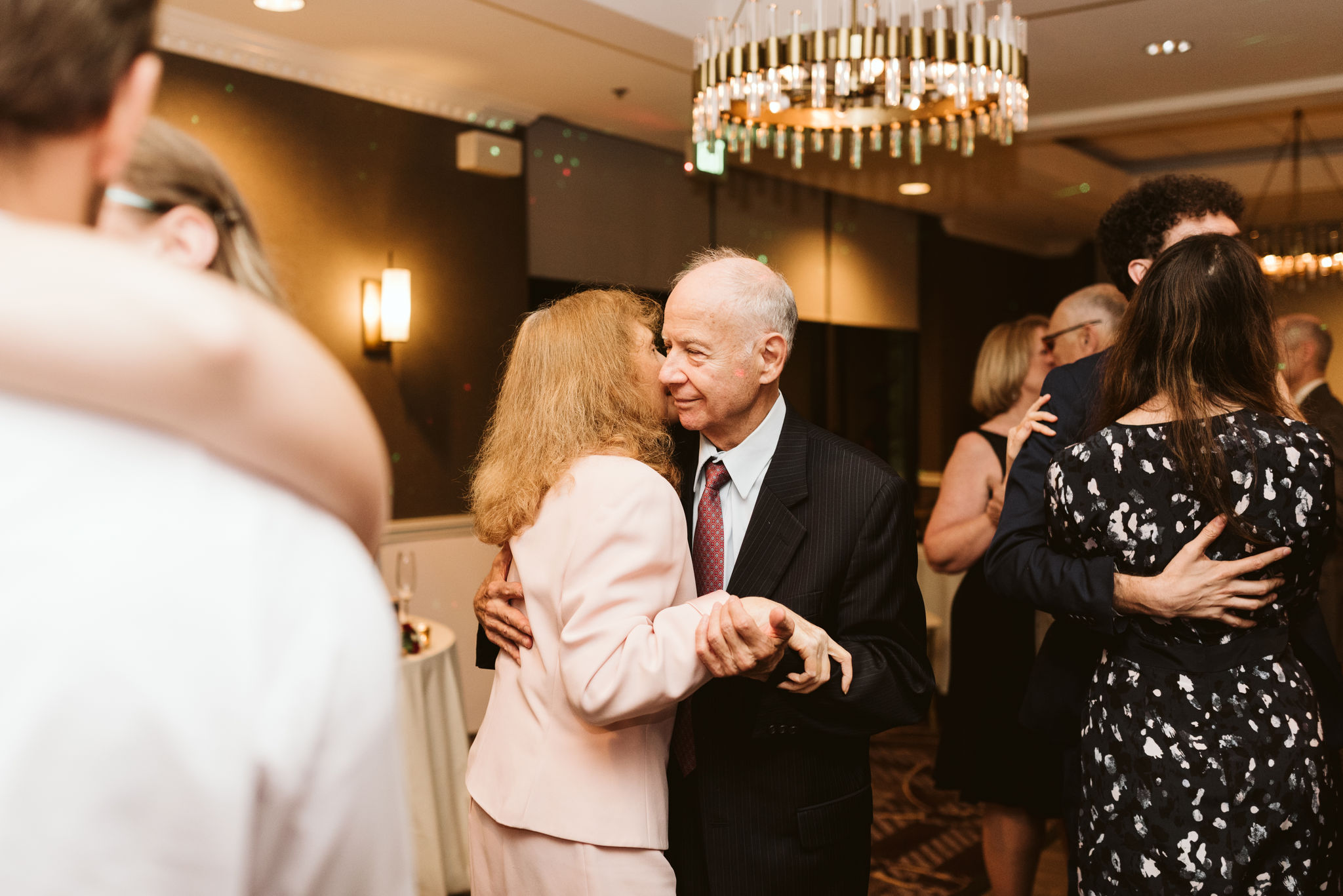 Phoenix Maryland, Baltimore Wedding Photographer, Eagle's Nest Country Club, Classic, Romantic, Older Couple Sweetly Dancing at Reception