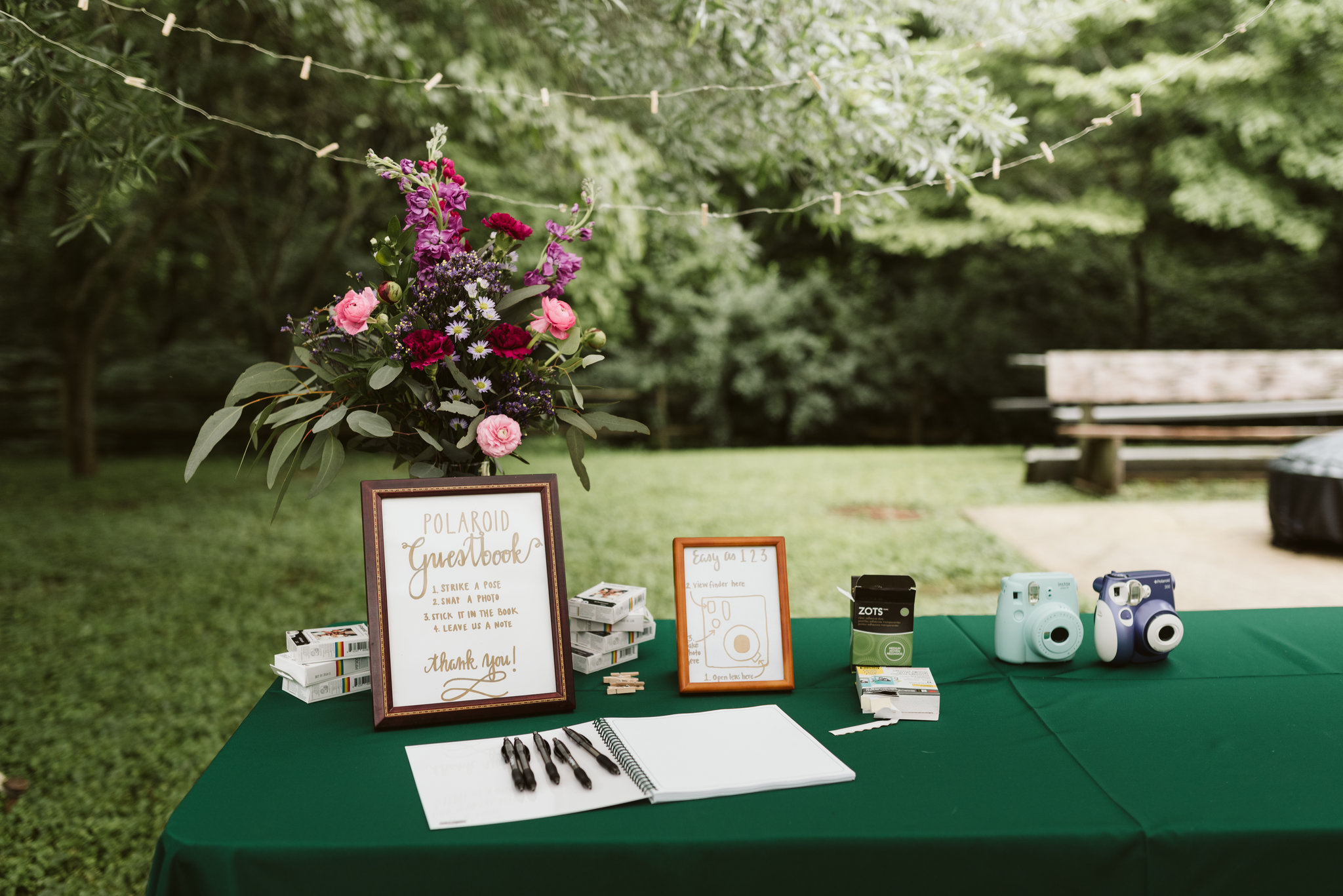 Annapolis, Quaker Wedding, Maryland Wedding Photographer, Intimate, Small Wedding, Vintage, DIY, Polaroids, Guestbook Table, Wedding Reception