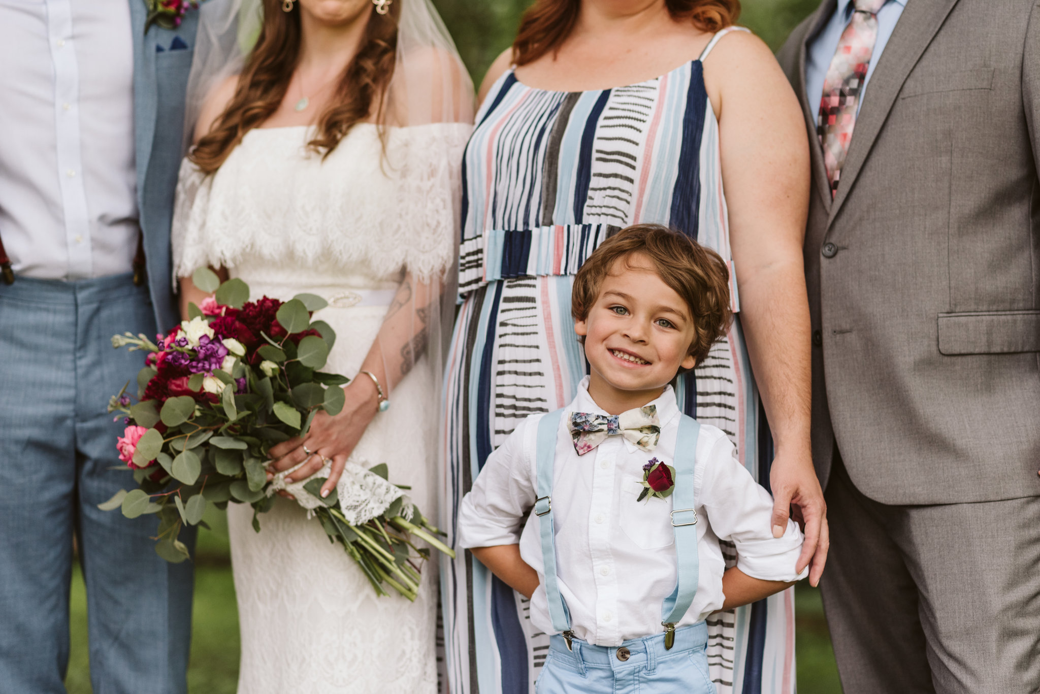 Annapolis, Quaker Wedding, Maryland Wedding Photographer, Intimate, Small Wedding, Vintage, DIY, Ring Bearer, Blue Suspenders, Cute Photo of Boy at Wedding