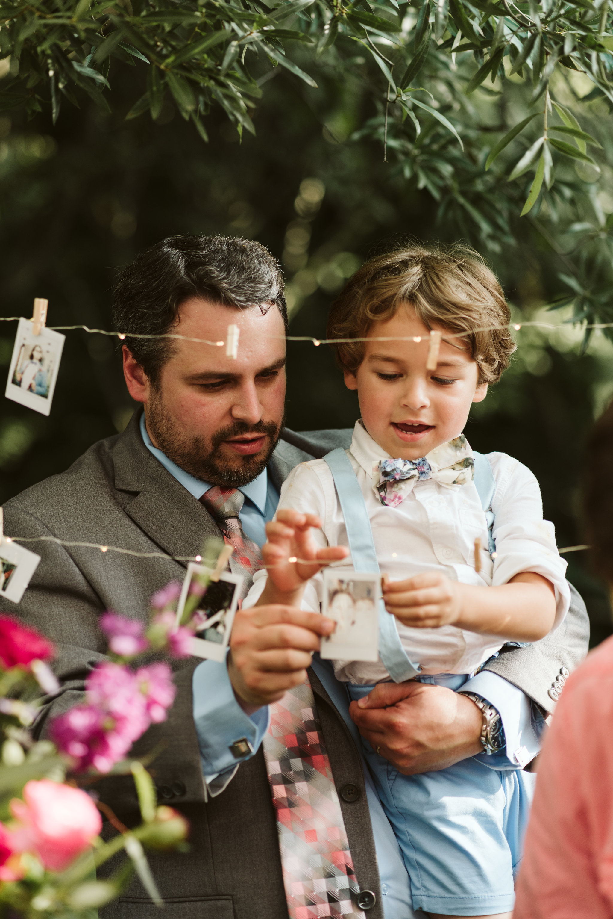 Annapolis, Quaker Wedding, Maryland Wedding Photographer, Intimate, Small Wedding, Vintage, DIY, Father and Son at Wedding Reception, Cute Photo of Family