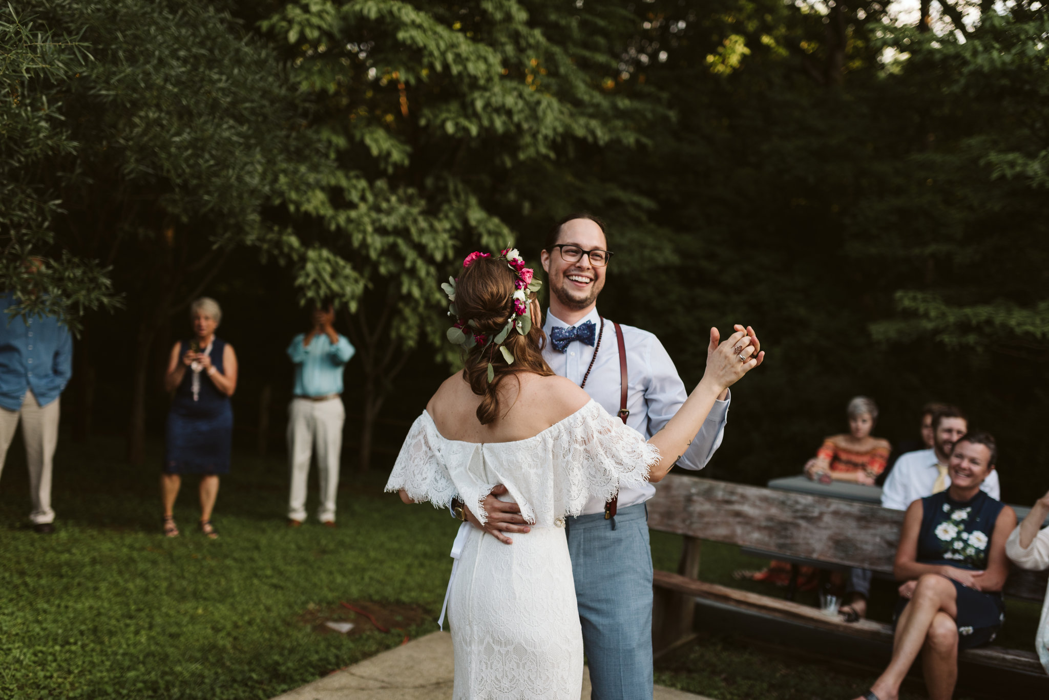 Annapolis, Quaker Wedding, Maryland Wedding Photographer, Intimate, Small Wedding, Vintage, DIY, First Dance, Bride and Groom Dancing Together