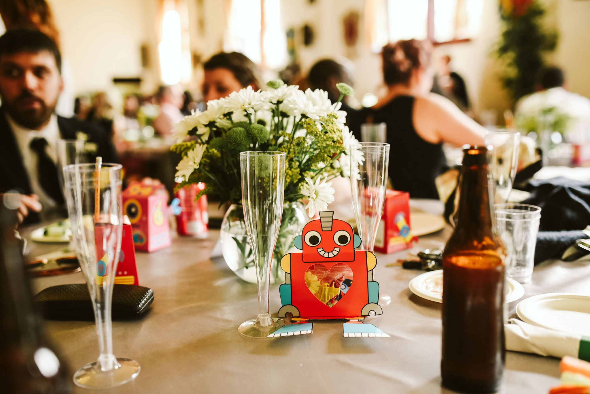 Baltimore, Lithuanian Dance Hall, Maryland Wedding Photographer, Vintage, Classic, 50s Style, Robot Wedding Favors, Fun Quirky Details, Wedding Reception