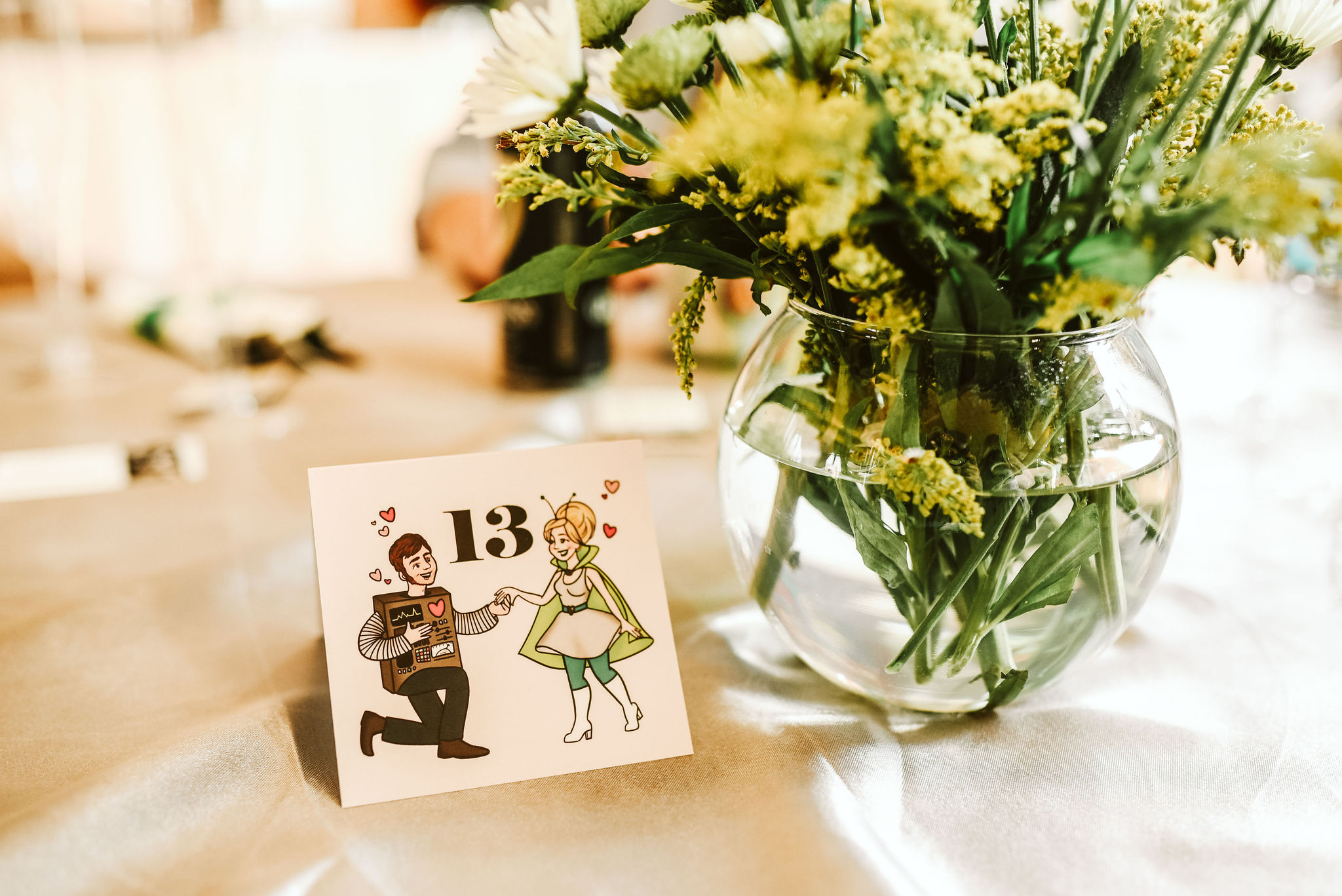 Baltimore, Lithuanian Dance Hall, Maryland Wedding Photographer, Vintage, Classic, 50s Style, Wedding Reception, Table Numbers, Hand Drawn Details, Sci-fi, Baltimore City