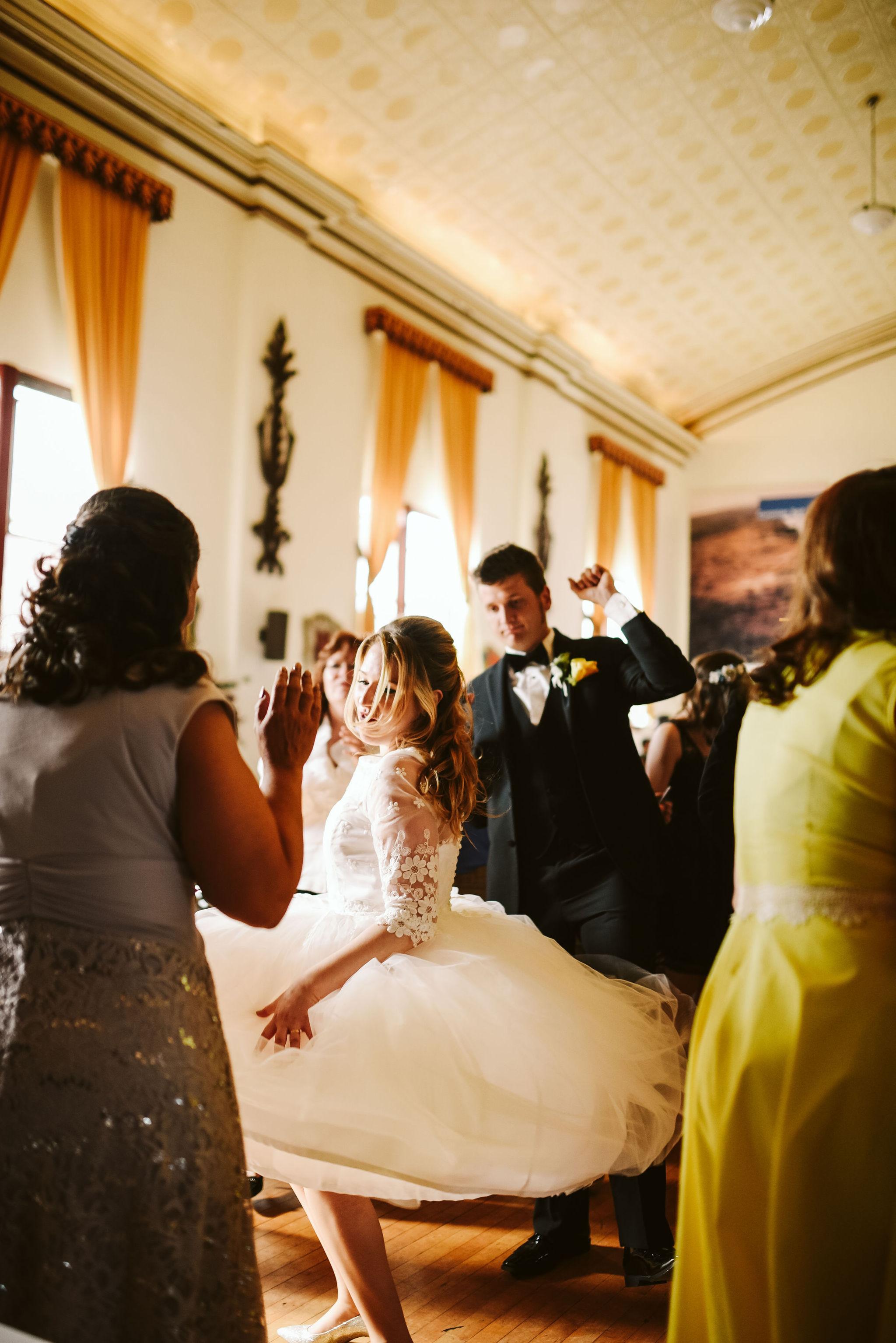 Baltimore, Lithuanian Dance Hall, Maryland Wedding Photographer, Vintage, Classic, 50s Style, Wedding Reception, Beautiful Bride Twirling on Dancefloor