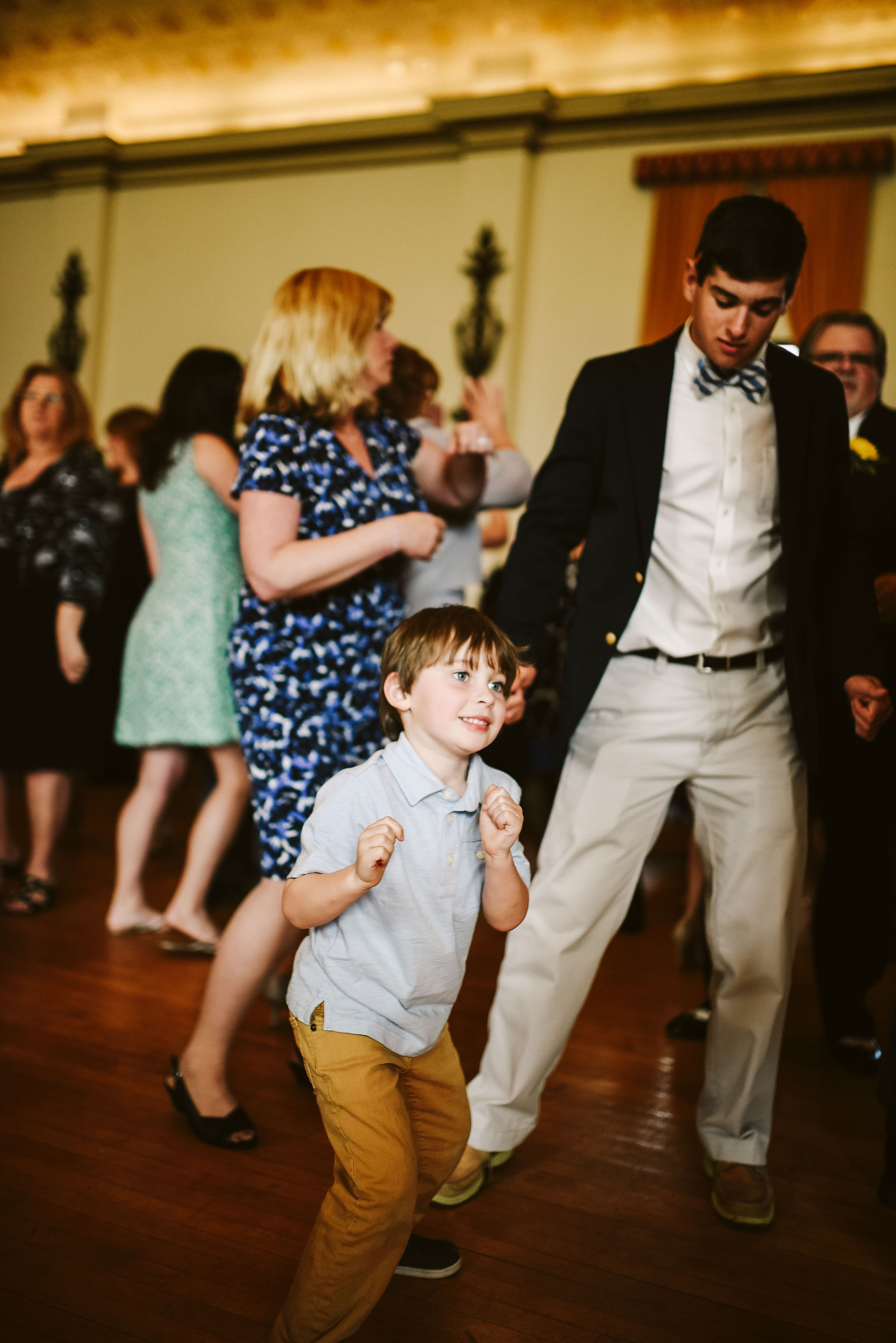 Baltimore, Lithuanian Dance Hall, Maryland Wedding Photographer, Vintage, Classic, 50s Style, Kids Dancing at Reception, Wedding Reception