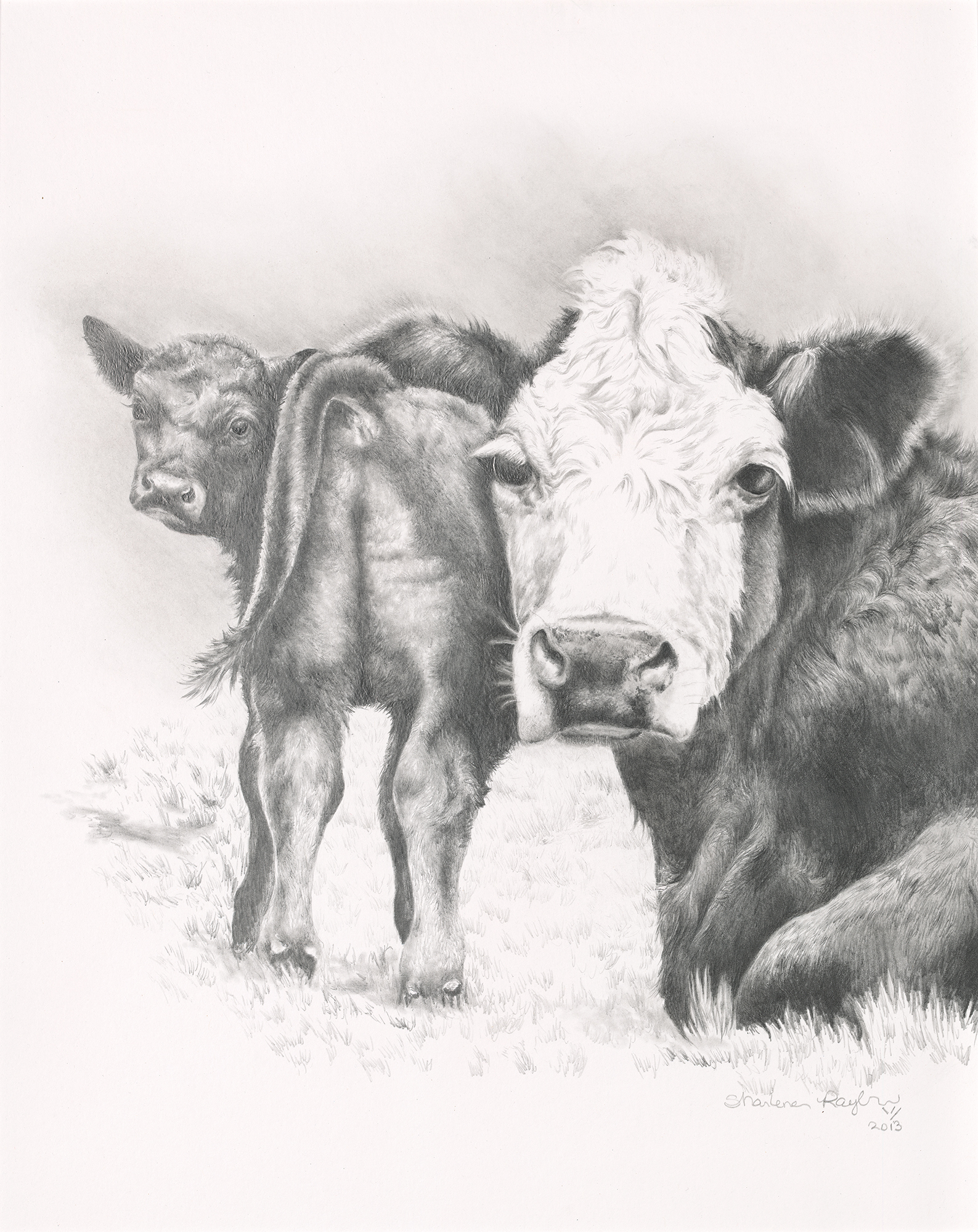"""""""1010 Cow"""" - SOLD"""