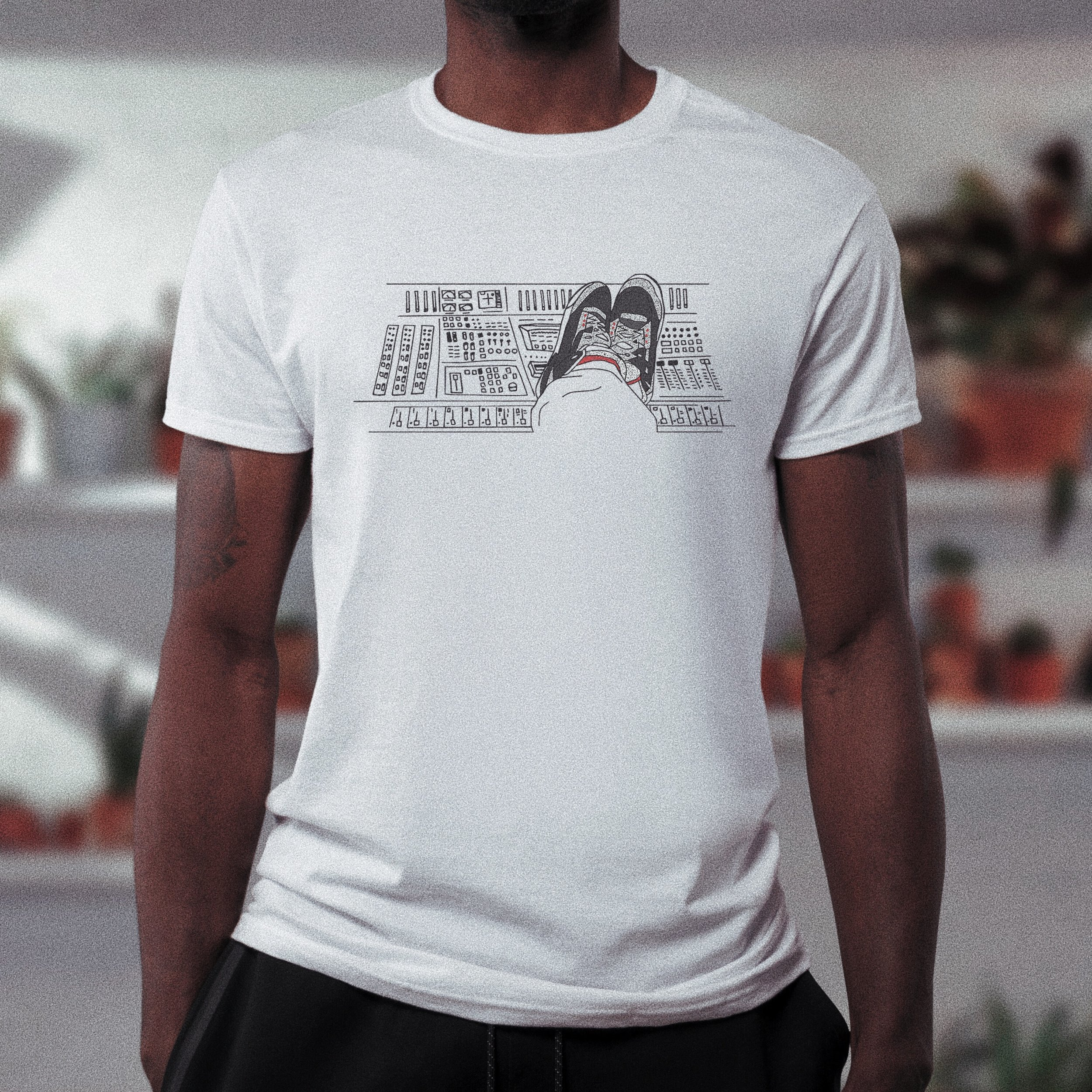 Men's White Fitted Tee -