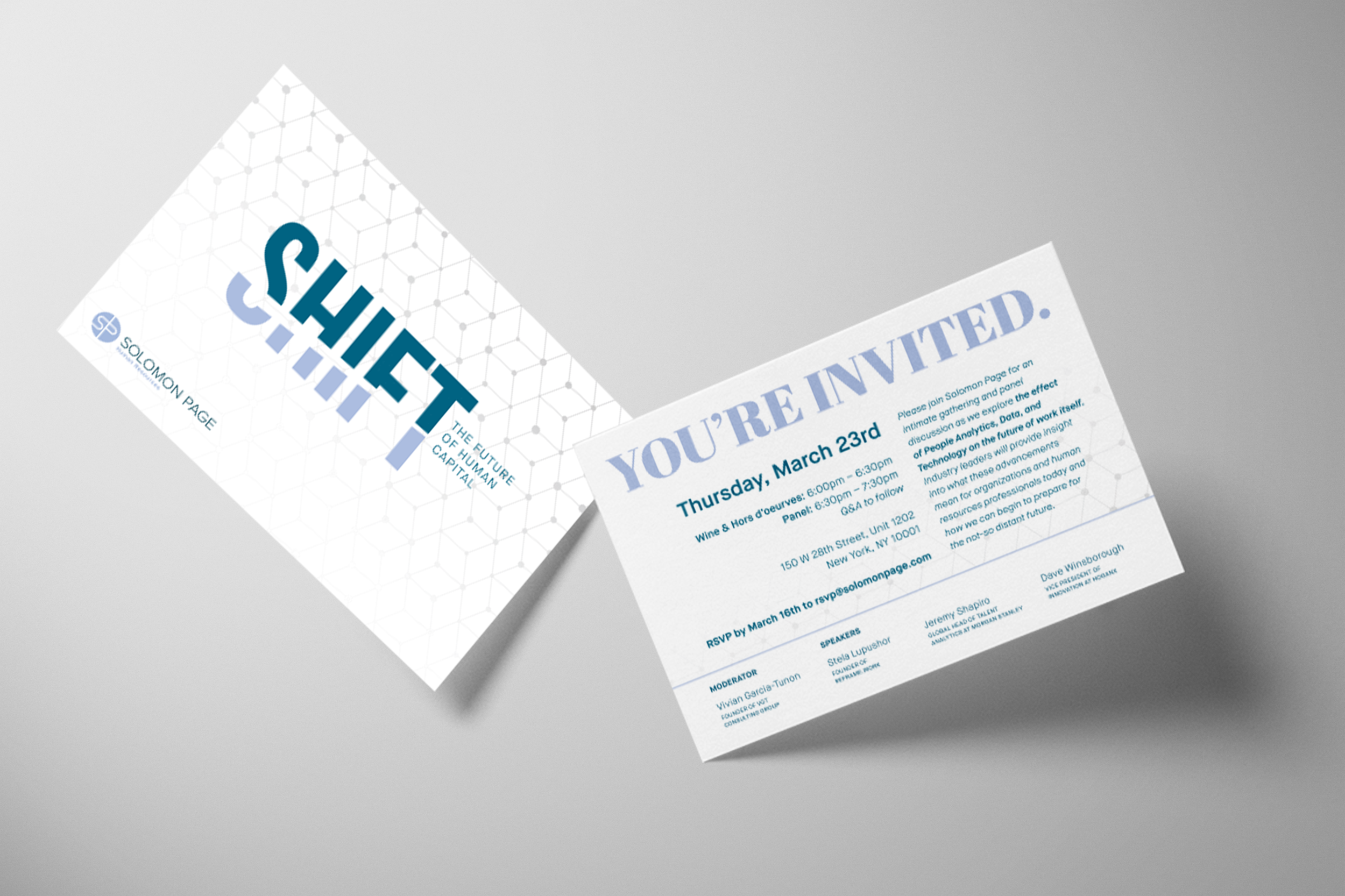 human resources event invitation card