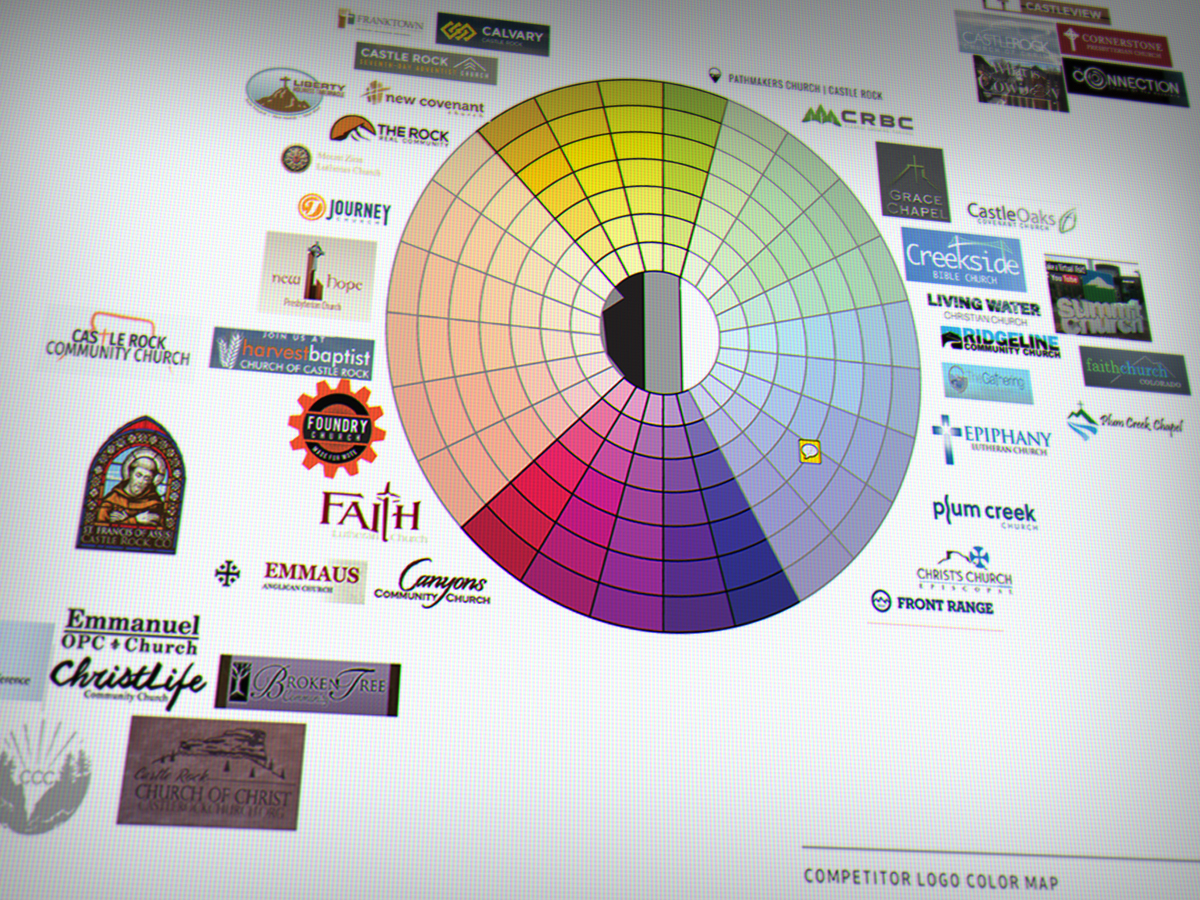 Plotting competitive logos on a color wheel reveals color spaces you can own.
