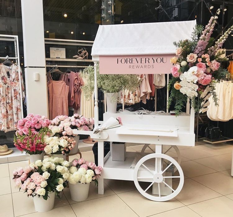 Little Lolly Cart at Forever New's Perth CBD store