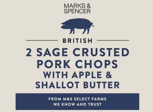 Sage crusted pork chop