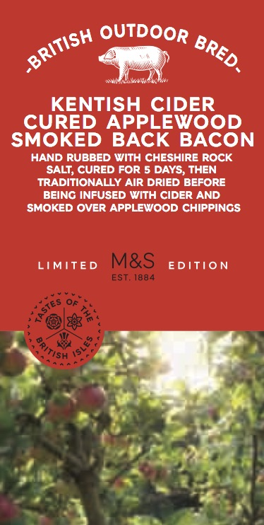 Cider cured bacon