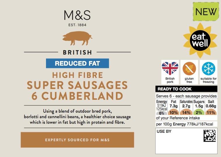 Super sausages cumberland sausages