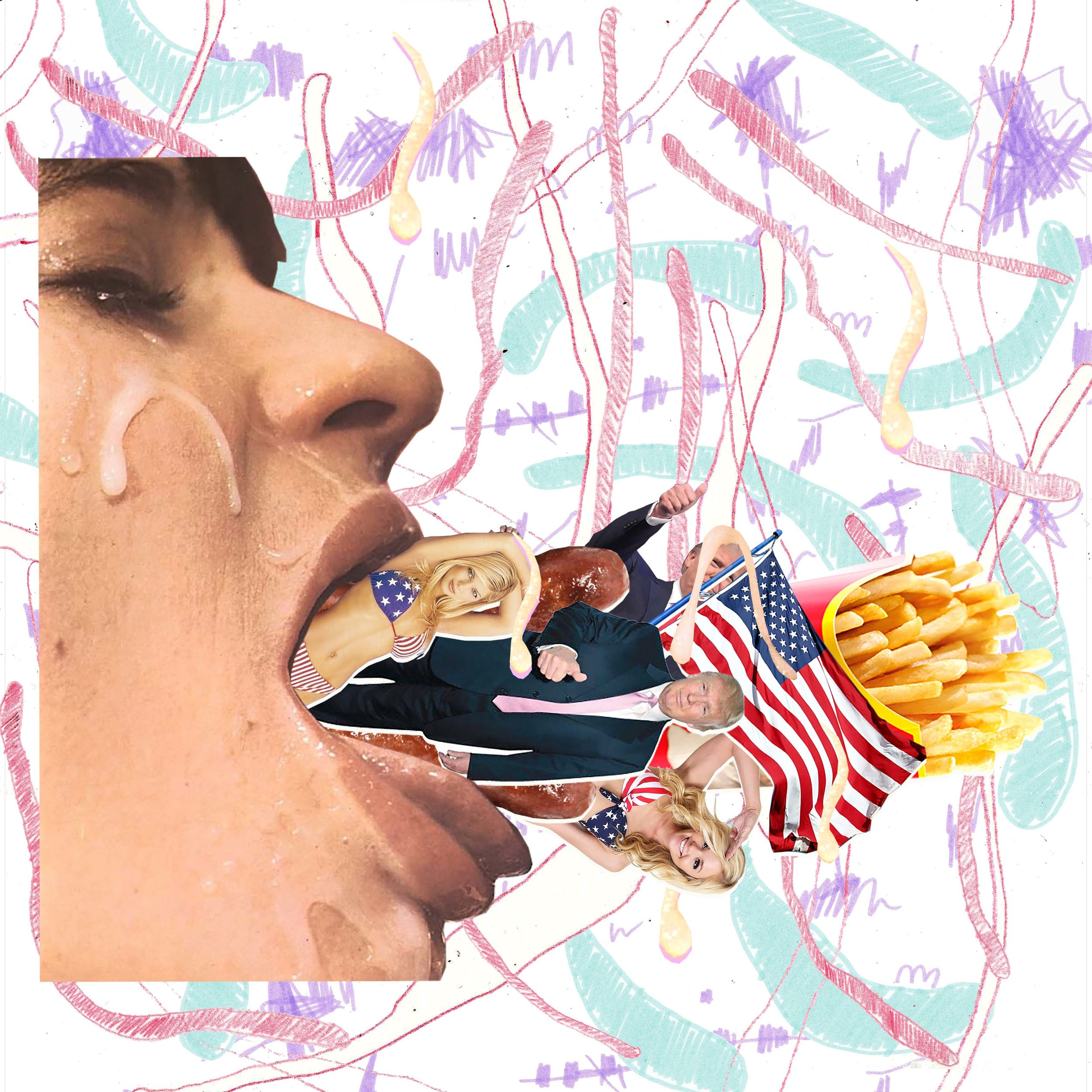 Illustrations accompanying an essay on Transgender & Donald Trump for Polyester Zine  http://www.polyesterzine.com/opinion/woman-in-the-world-trump-as-trans