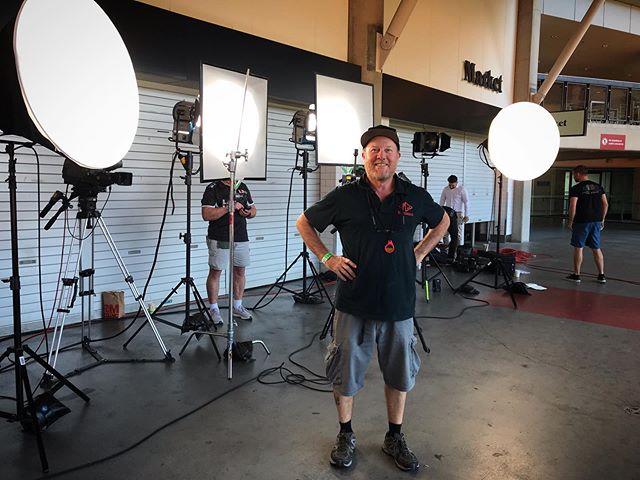 Who is on charge of this set #mickgrip #micksgripping #NRL #suncorpstadium #stateoforigin #stateoforigin2019 #gripping #filmlighting