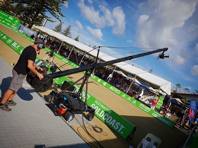Enjoying the variety of work I do @micksgripping #cameraman #grips #outsidebroadcast #outsidebroadcasting #livetv #livesports #ausopengc #broadbeachbowlsclub #goldcoast #australia