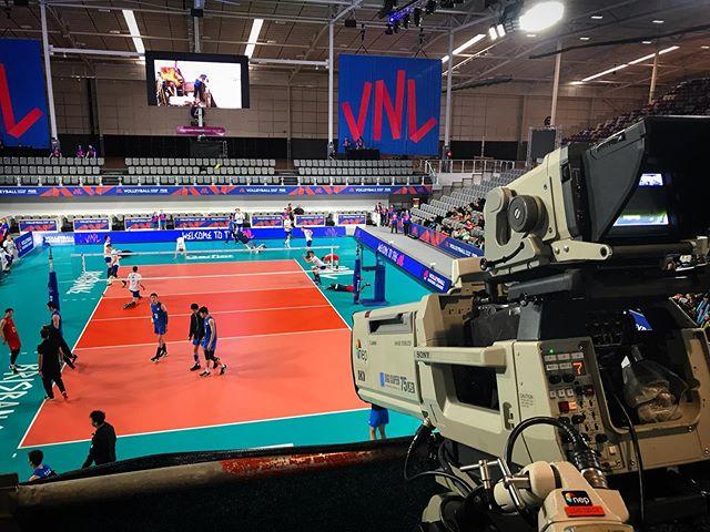 Enjoyed working on #fivbvolleyballnationsleague #qldstatenetballcentre #australia #sport #livetv #cameraman #nepaustralia