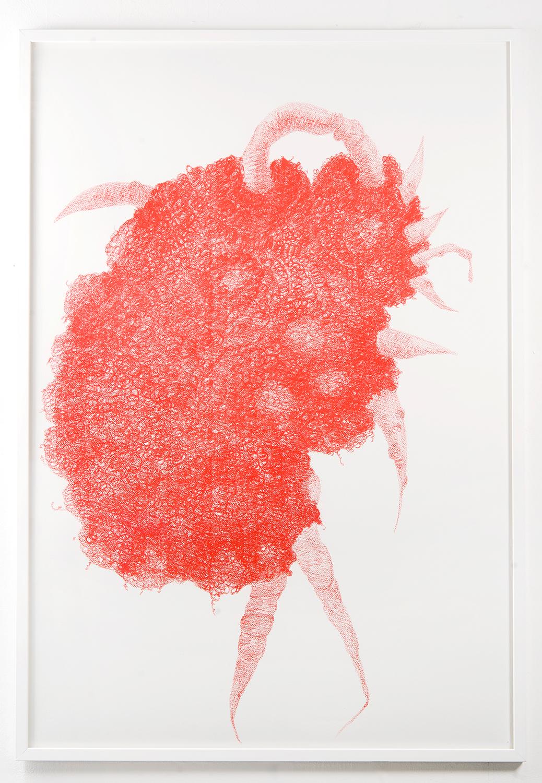 Whurrlitz, wax pencil on paper, (W) 80 x  115cm