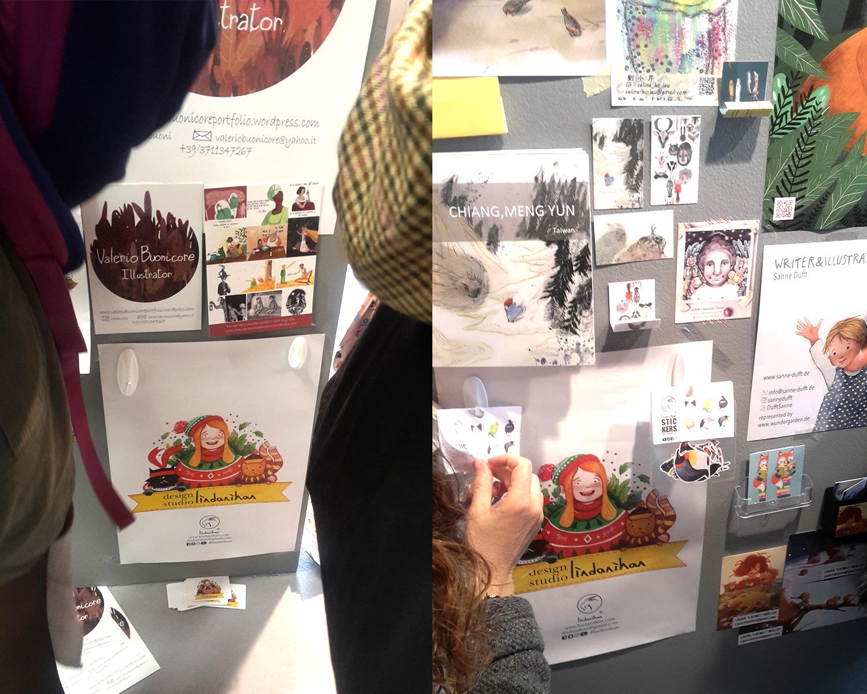 Bologna Cocuk Kitapları Fuarı'nda gec kalinca lindanihan posterlerine ancak altlarda yer bulabildim… Stickerlar da asıldı ve anında bitti… seneye daha cok götüreceğim.