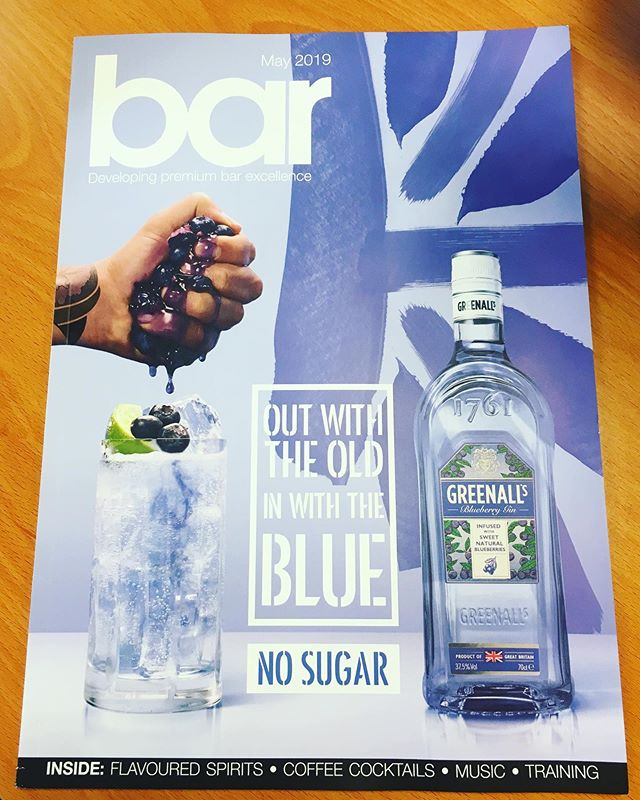 Just had to share this awesome 😍front cover we had the pleasure of designing for @greenallsgin as featured in @barmagazine