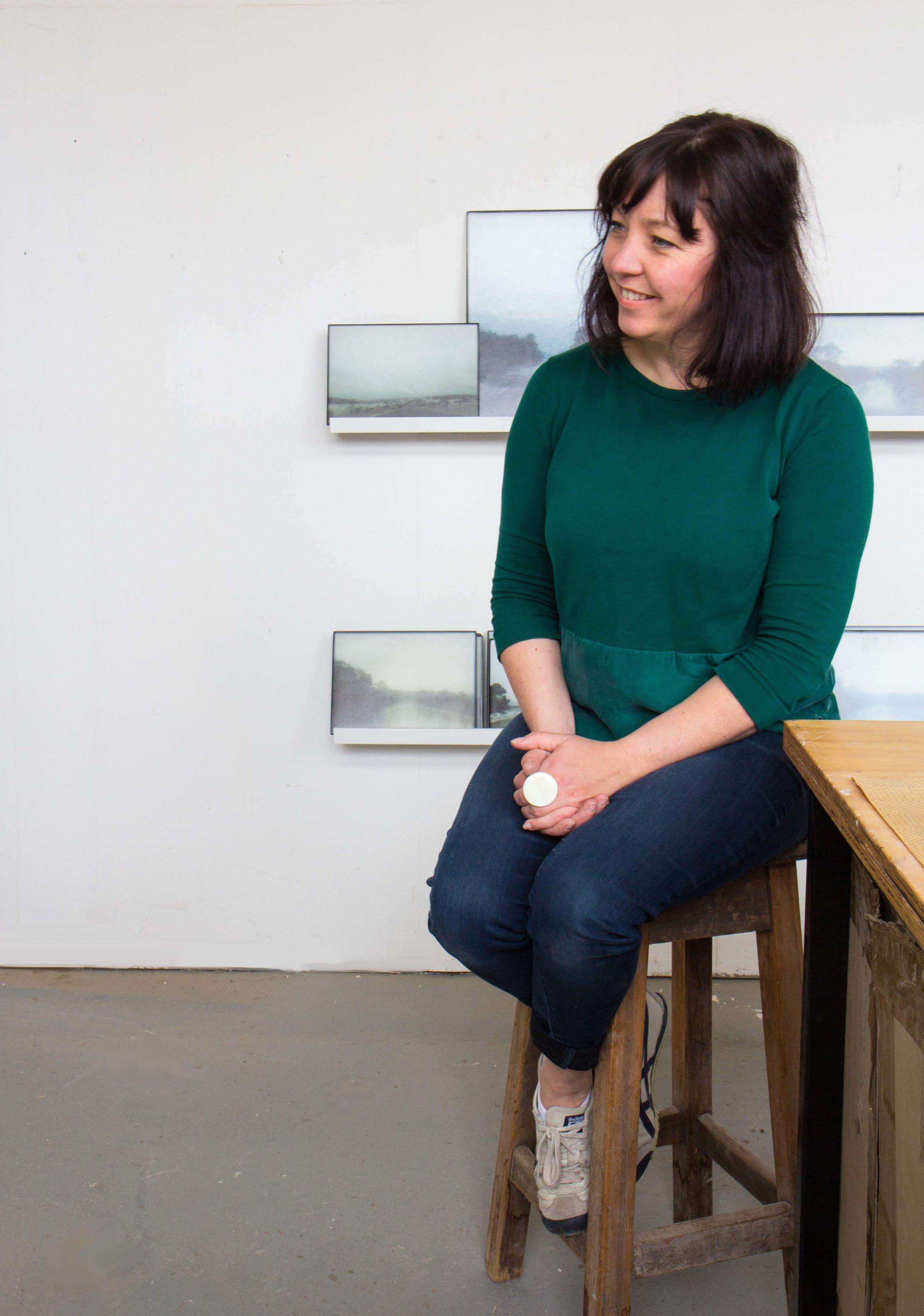 Lisa in her studio in Pialligo, Canberra. PHOTO Wendy Dawes
