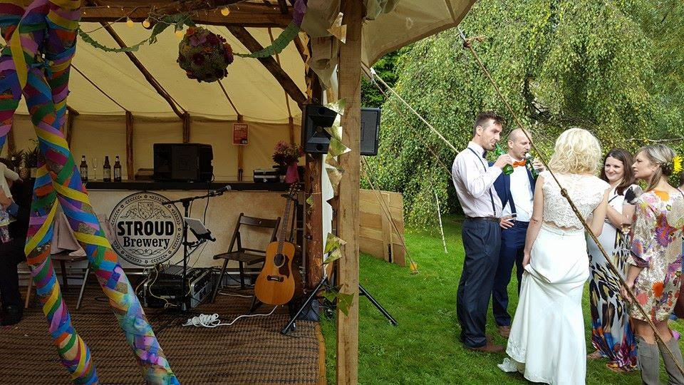 My set-up during reception drinks and canapes at a beautiful wedding in The Cotswolds, September 2016