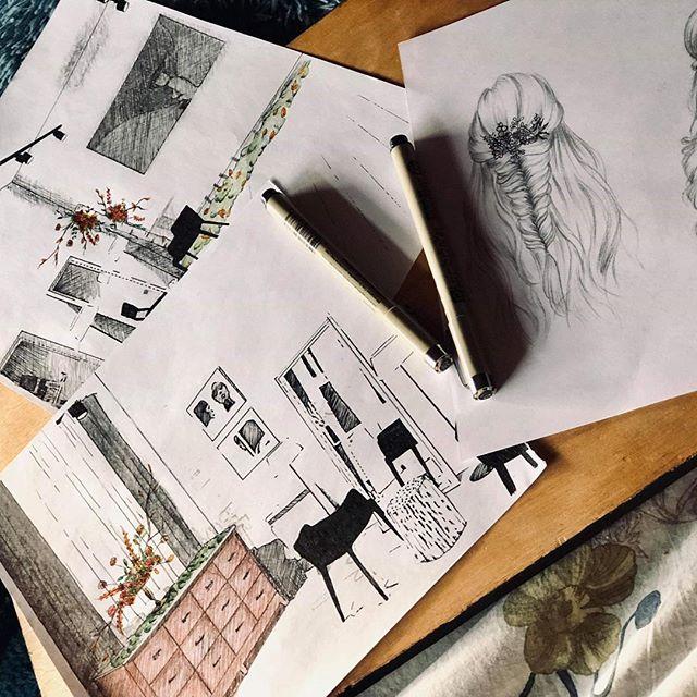 Work in progress. 🌱💡🖌 Du joli à venir. On vous parle très vite de tout ça ! #flowers #passionflower #ilovemyjob #paris #florist #sketch #project #workinprogress #colors