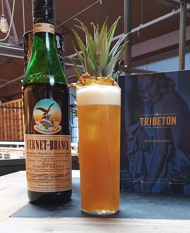 @cherdevine91 has done it again with yet another delicious concoction for you all to enjoy... Fernannas: bittersweet love of Fernet Branca with Pineapple Rum for the perfect punch 😍 #Tribeton