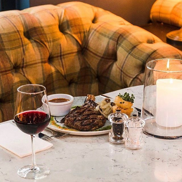 Steak and red wine... an almost unbeatable combination! Come try ours out... #Tribeton