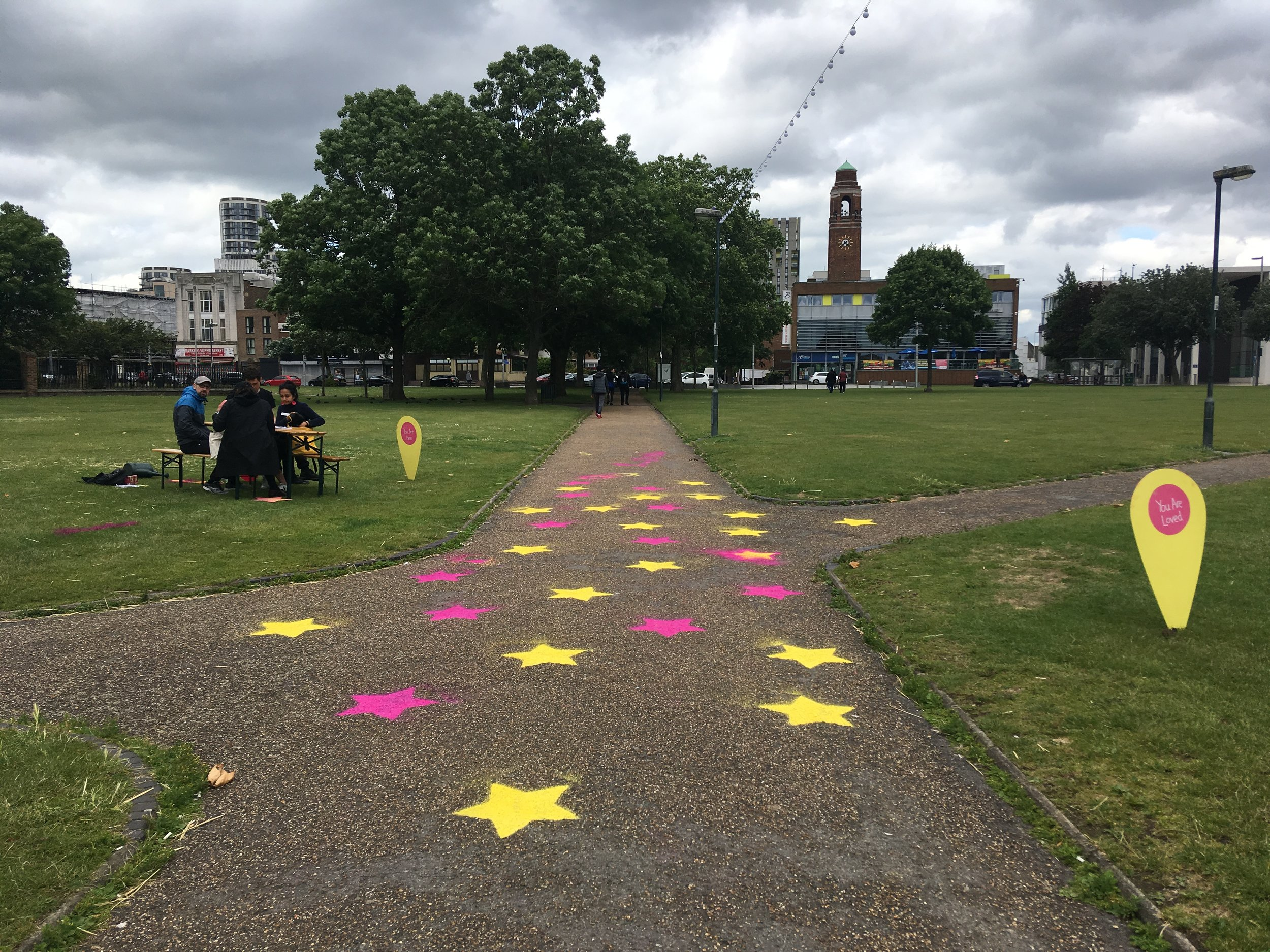 Prototyping the Barking Walk of Fame, lighting and seating at Abbey Green