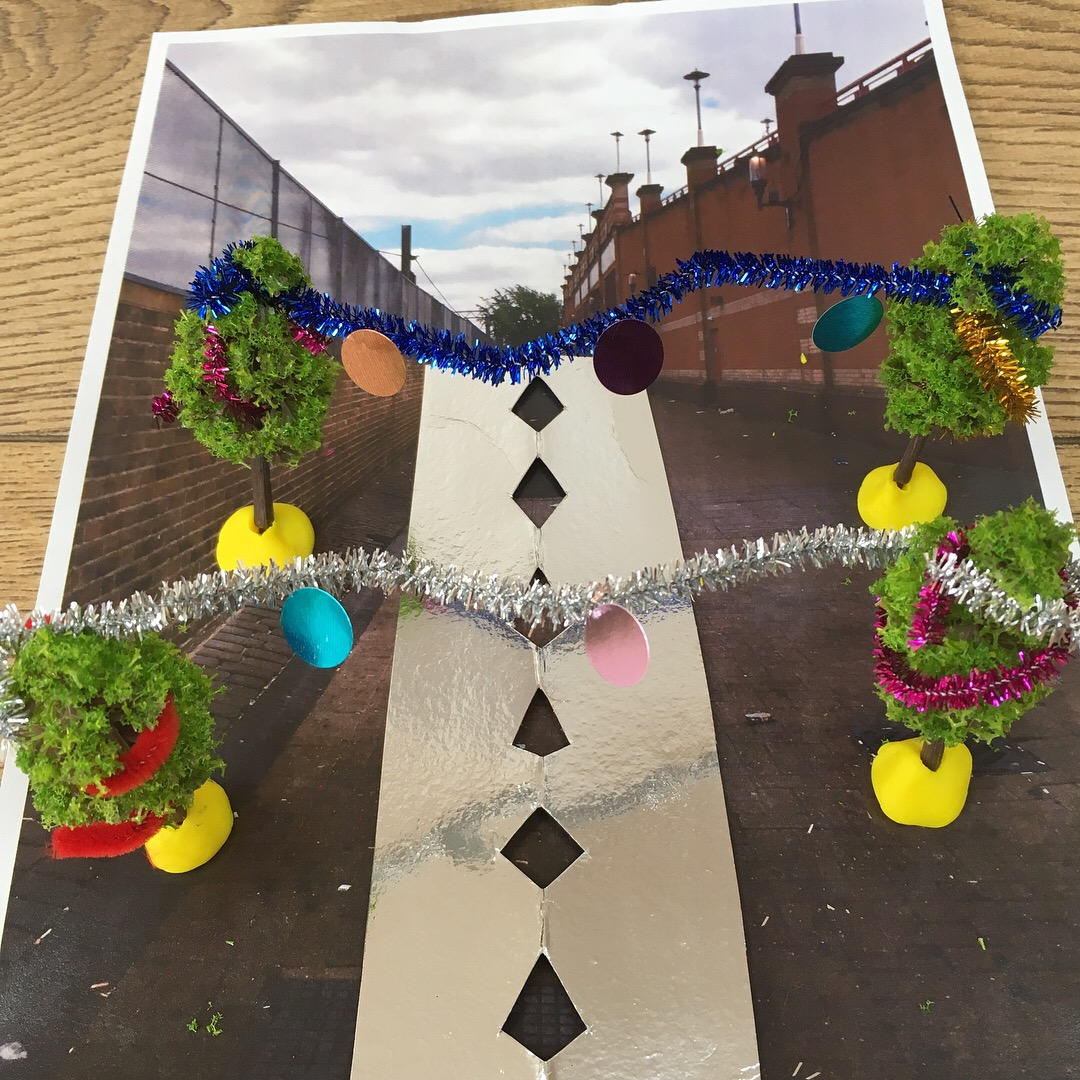 Prototype of St Awdry's Walk from collaborative design workshop