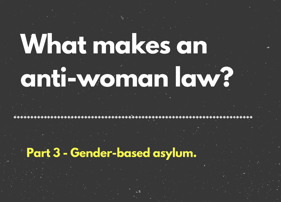 What makes an anti-woman law? Part 3 - gender-based asylum feminist foreign policy