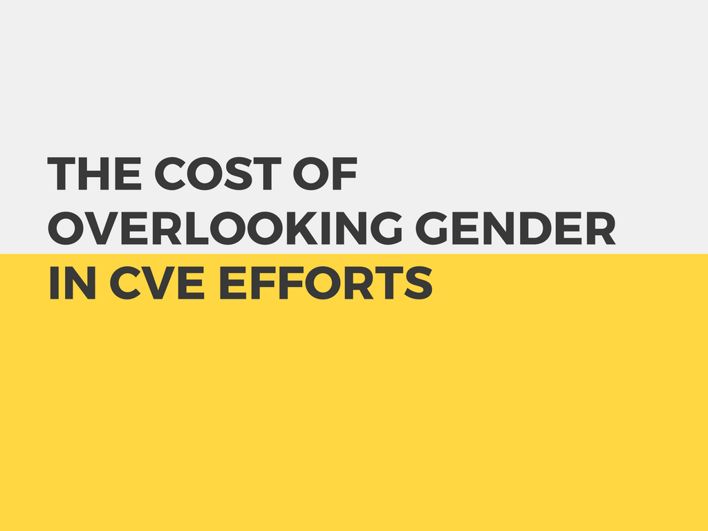 Elise McKeever Feminist Foreign Policy Cost of Overlooking Gender in CVE Efforts
