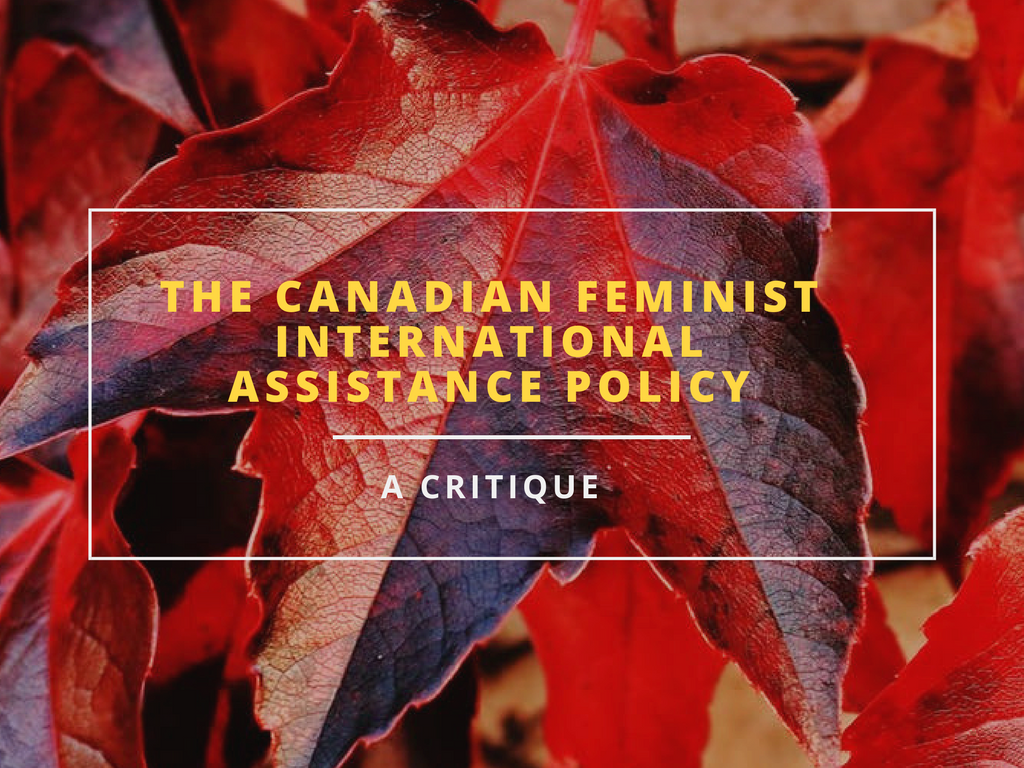 Centre for Feminist Foreign Policy Canadian Feminist international assistance policy Tasia Alexopoulos