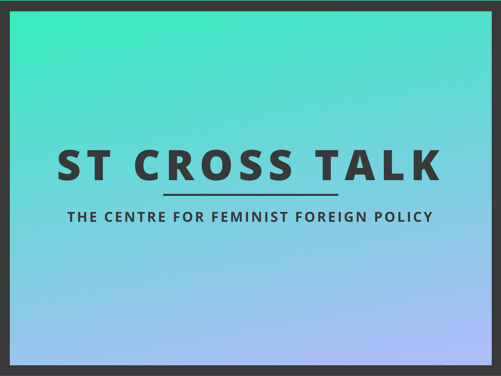 On May 8th 2018, the Centre for Feminist Foreign Policy (CFFP) brought together several panelists for a lively discussion on feminist foreign policy and diplomacy at the  St. Cross College  of the  University of Oxford .With CFFP co-founder  Kristina Lunz  moderating, the panelists -  Marissa Conway ,  Dr. Jennifer Cassidy  and  Sharinee Jagtiani  - explored the evolution of feminist foreign policy, ethnocentrism in IR thought, and the fight to 'decolonise' foreign policy – starting with the reading lists.