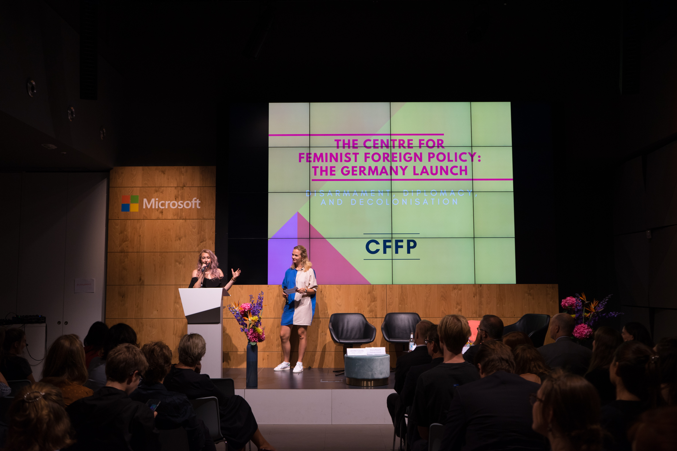 Marissa Conway and Kristina Lunz, CFFP co-founders and, respectively, UK Director and Germany Director