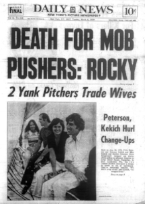 The Daily News treated the trade with subtlety and sensitivity. From left: Marilyn Peterson, Mike Kekich, Susanne Kekich, and Fritz Peterson.